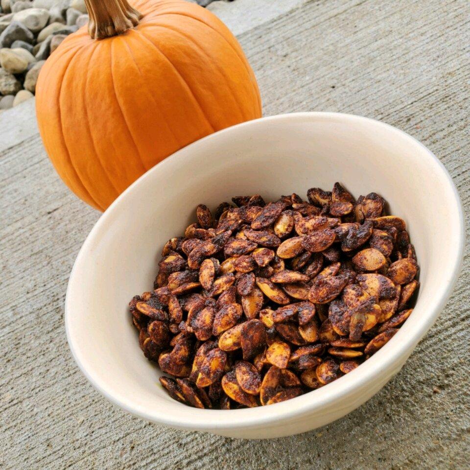 sweet curry pumpkin seeds recipe