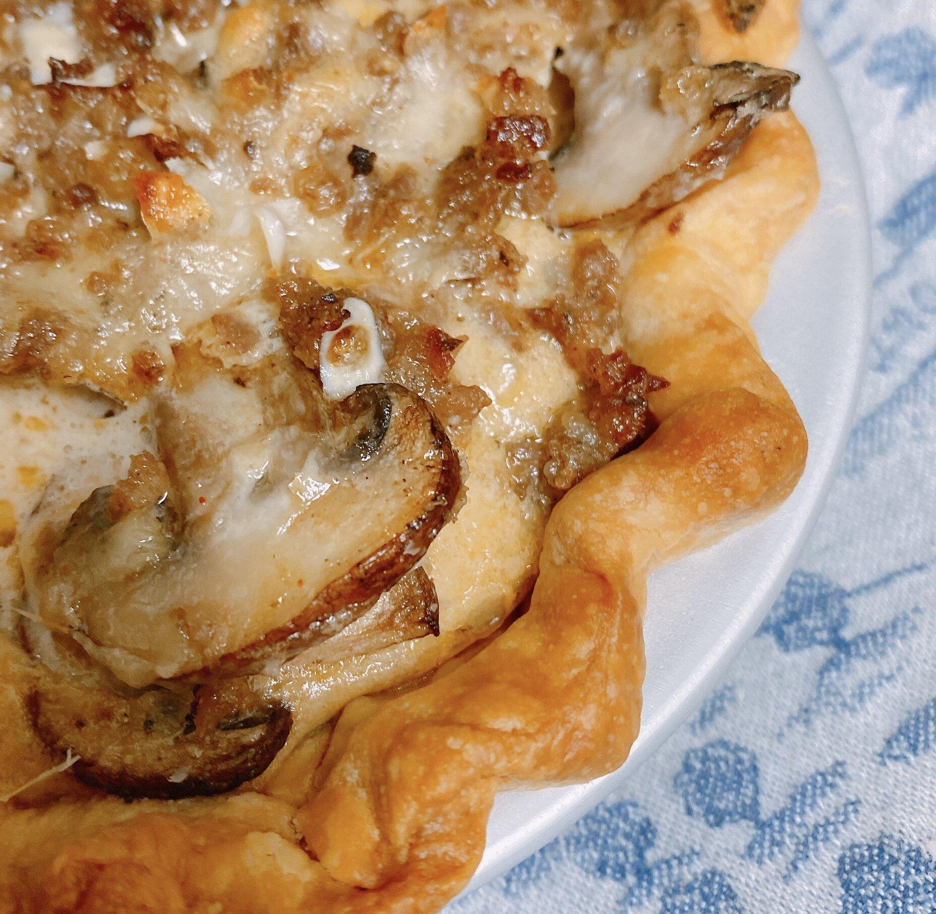 sausage mushroom quiche with heavy cream recipe