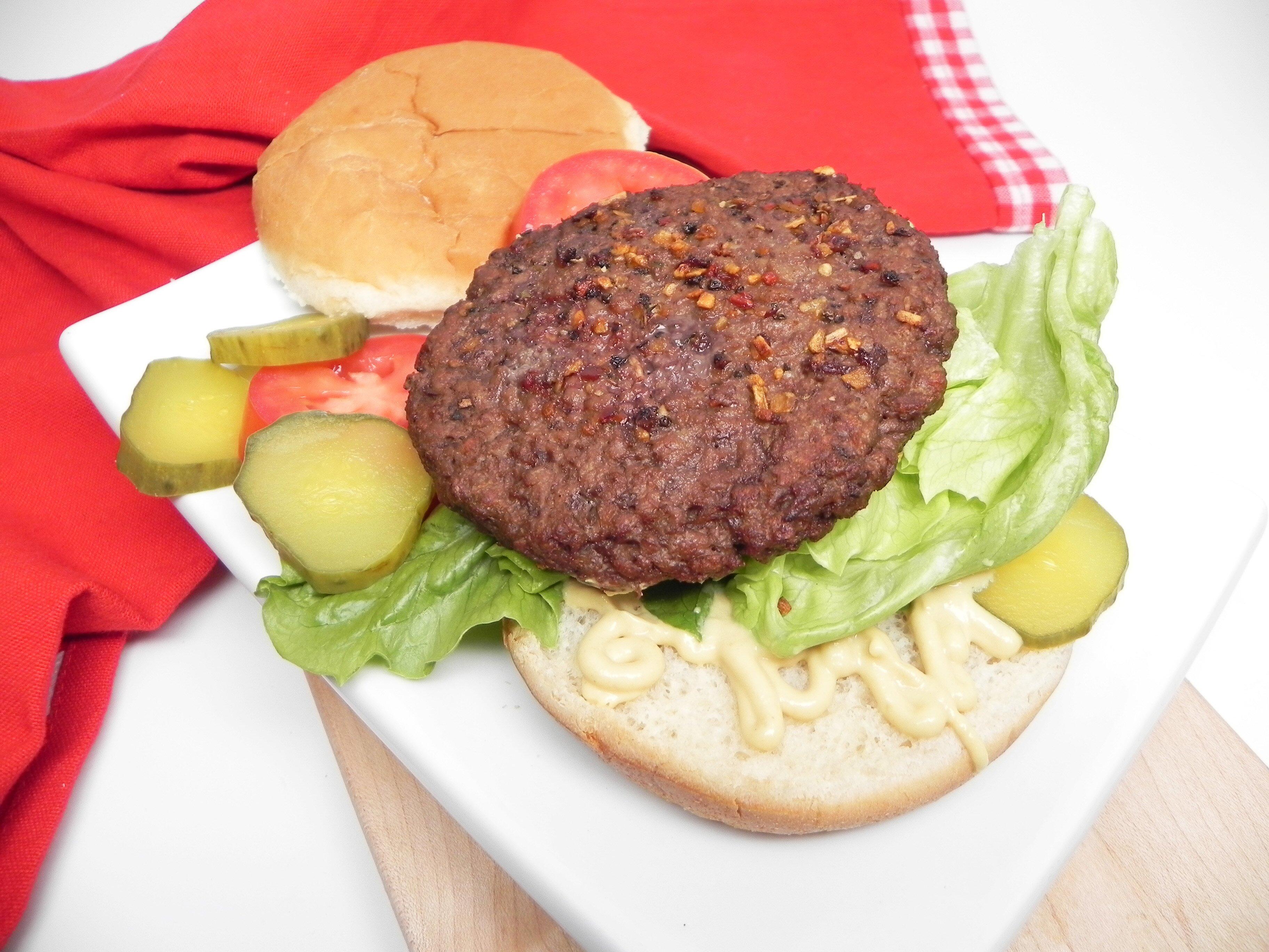 air fryer vegan burger