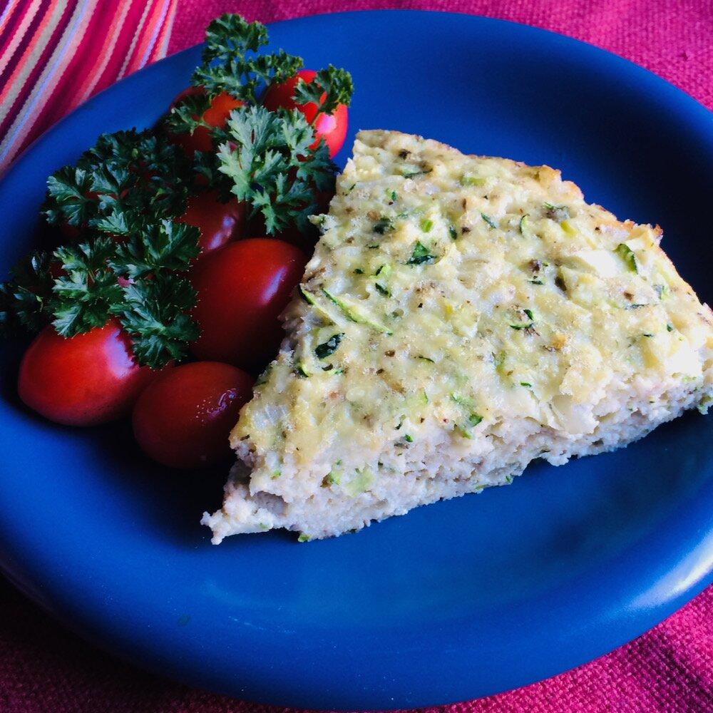 baked italian egg zucchini and scallion frittata recipe