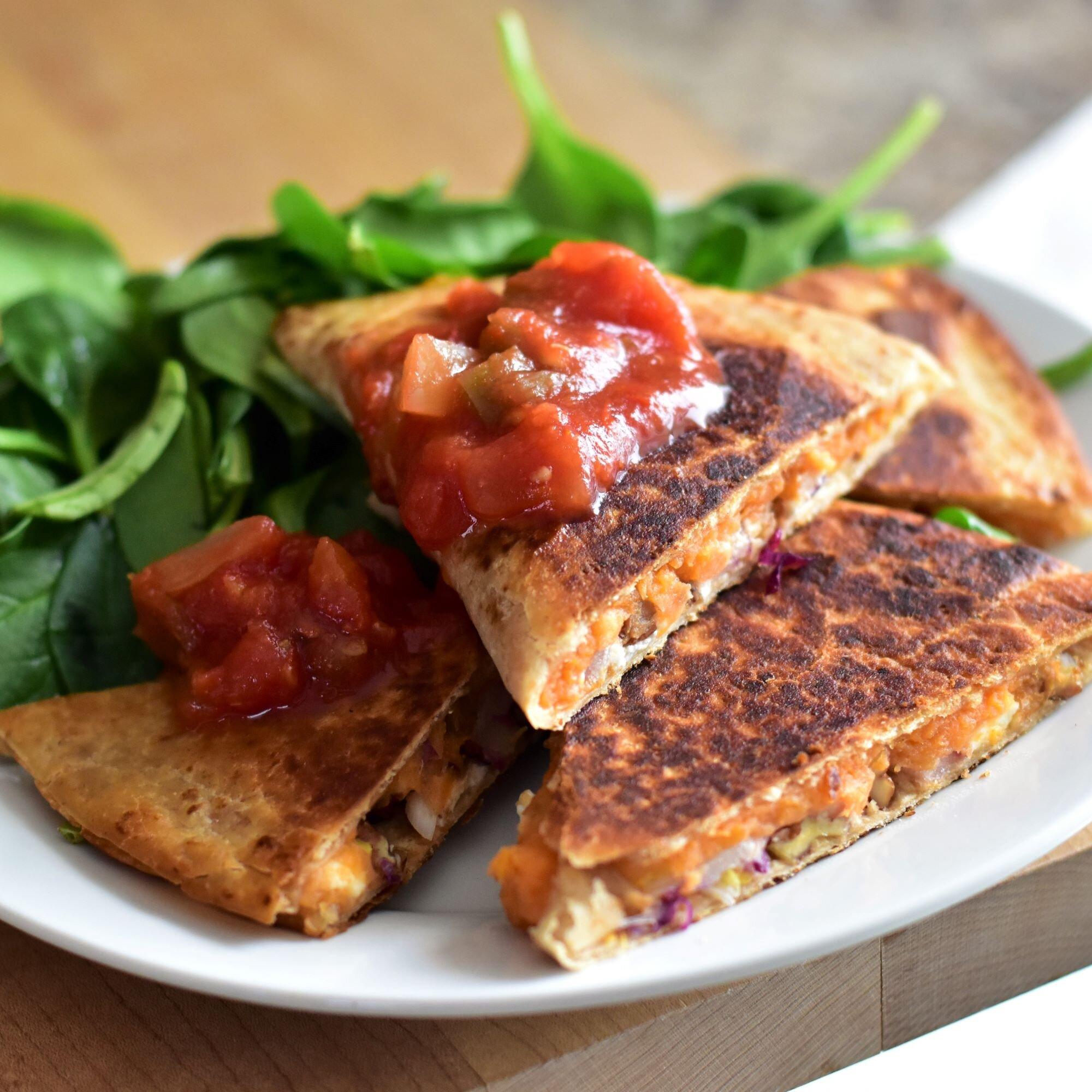 sweet potato quesadillas recipe