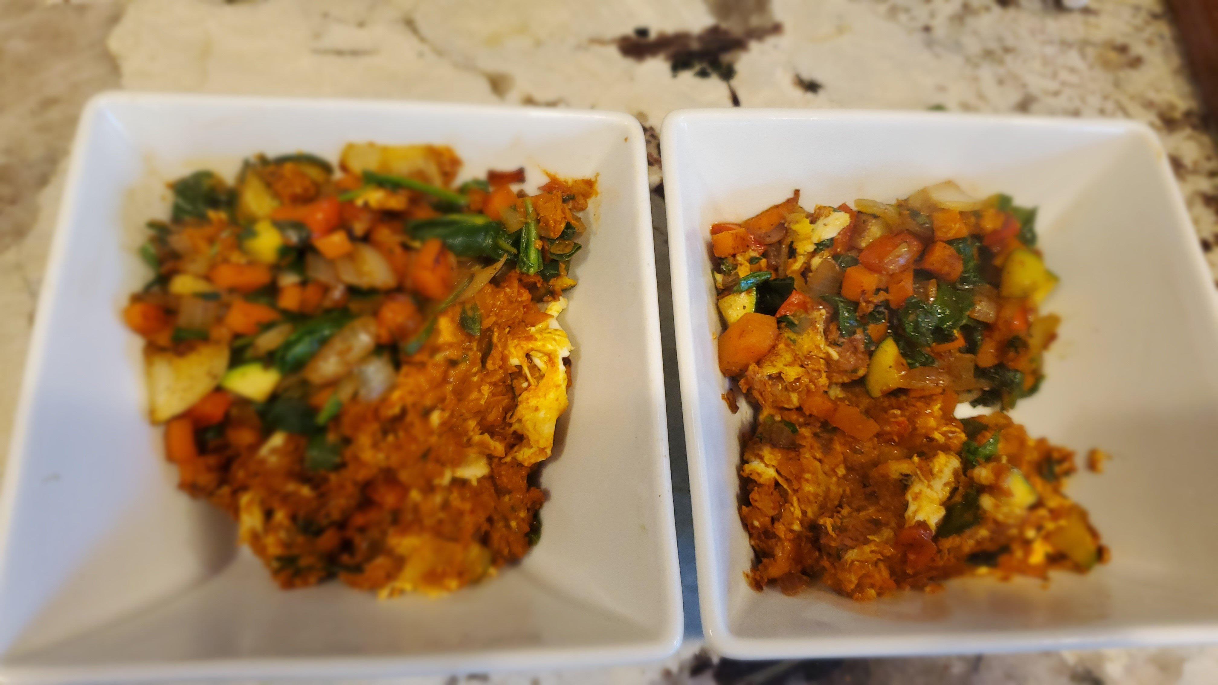 soyrizo egg and veggie hash