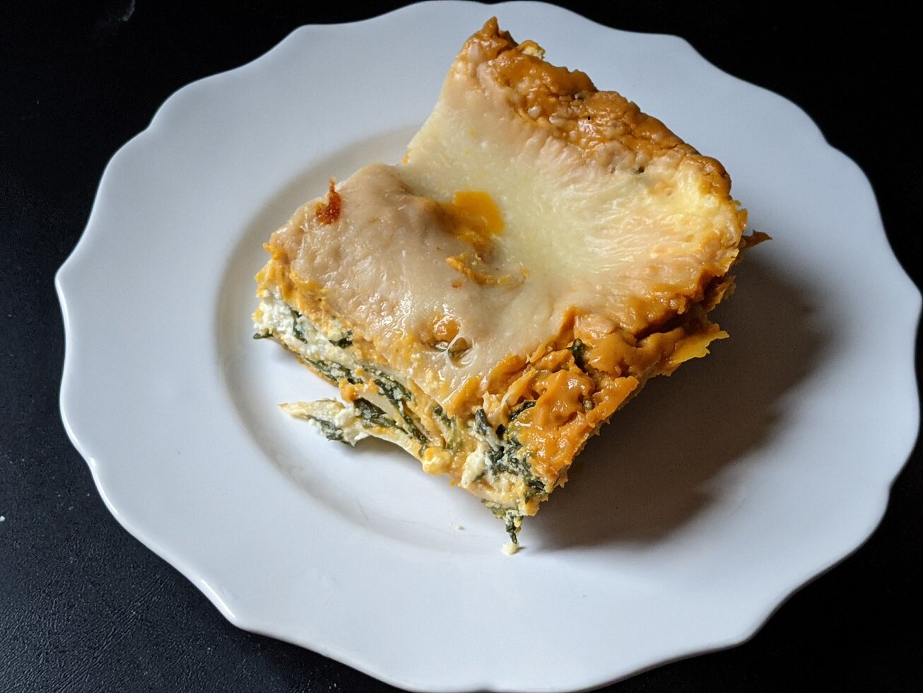 roasted butternut squash and spinach lasagna recipe