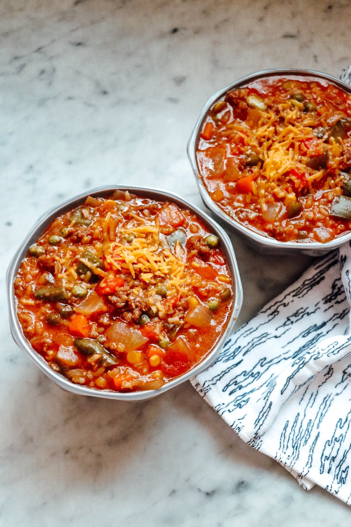 cheesy hamburger stew with rice
