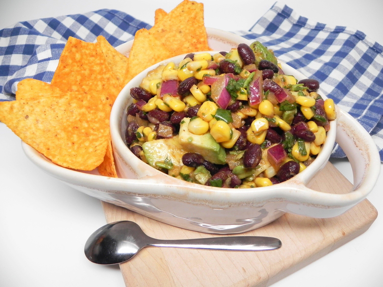 black bean avocado and corn salsa