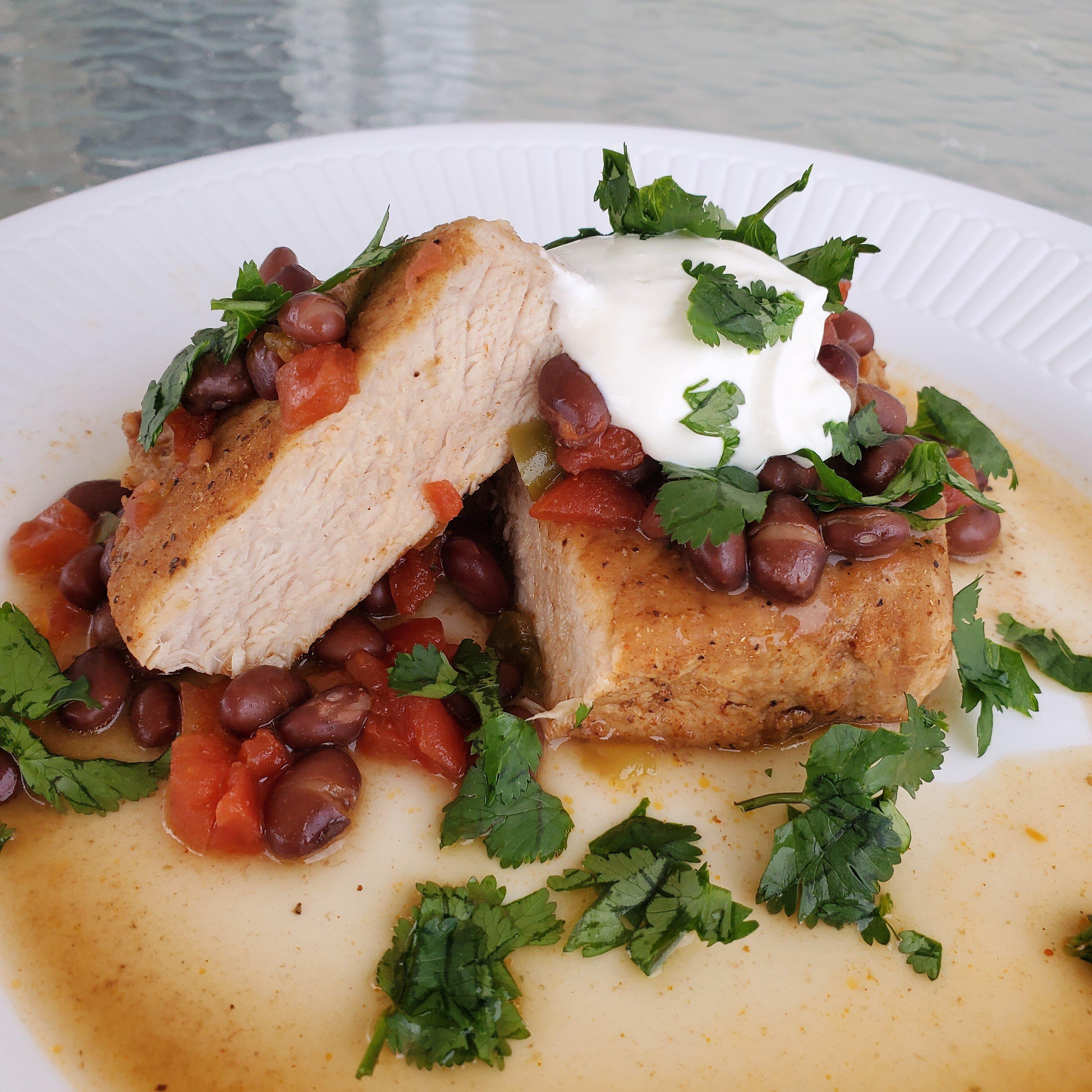 instant pot black bean pork chops