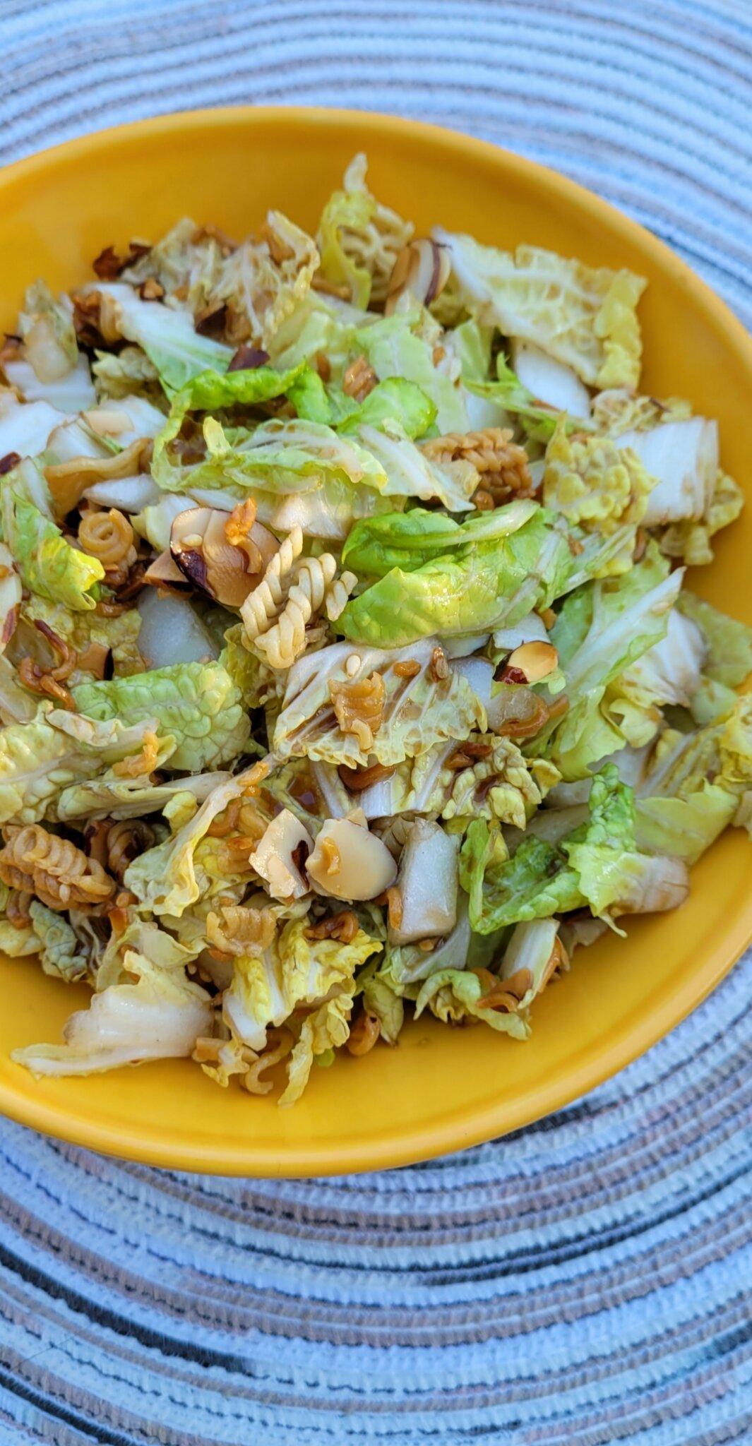 napa cabbage noodle salad recipe