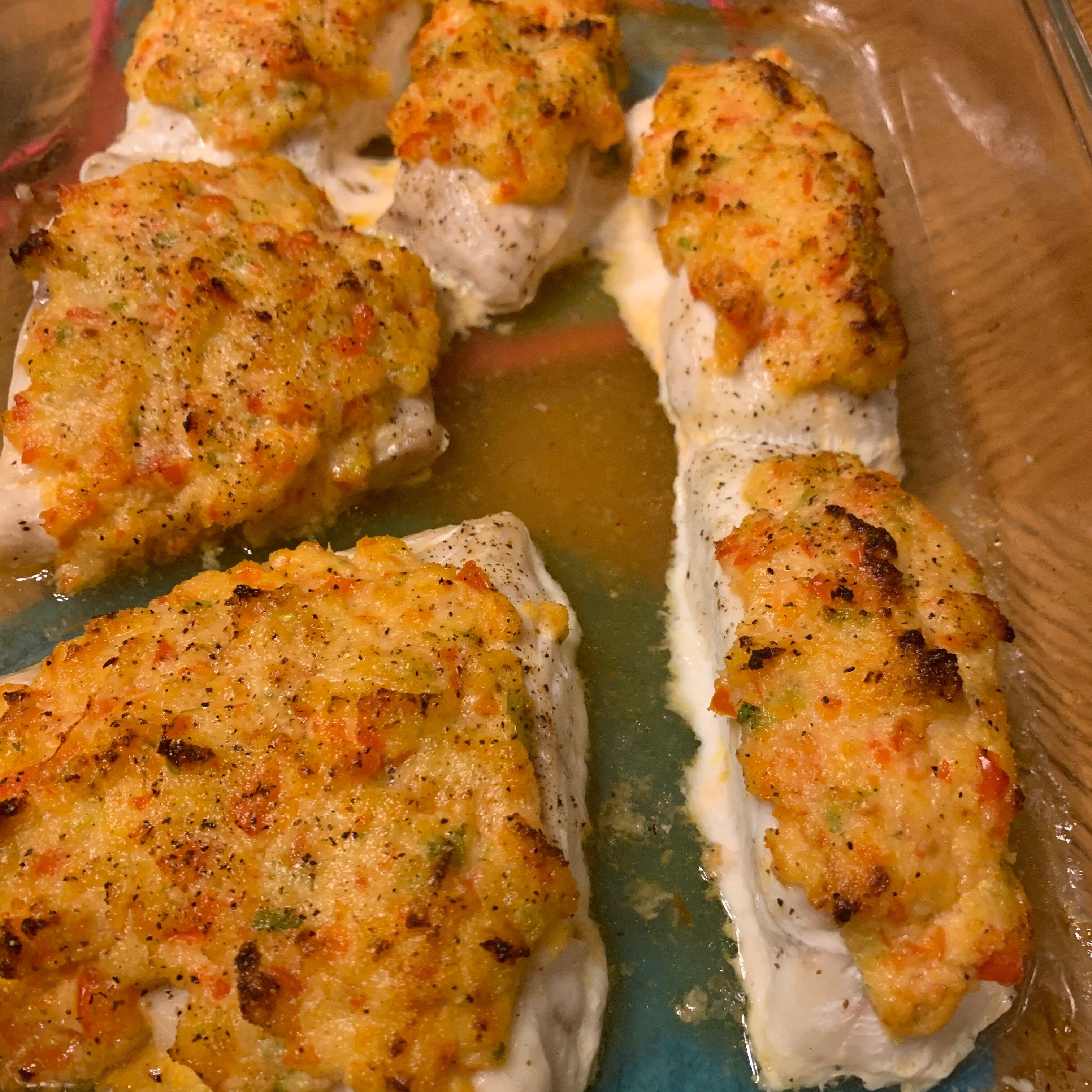 crab crusted grouper recipe