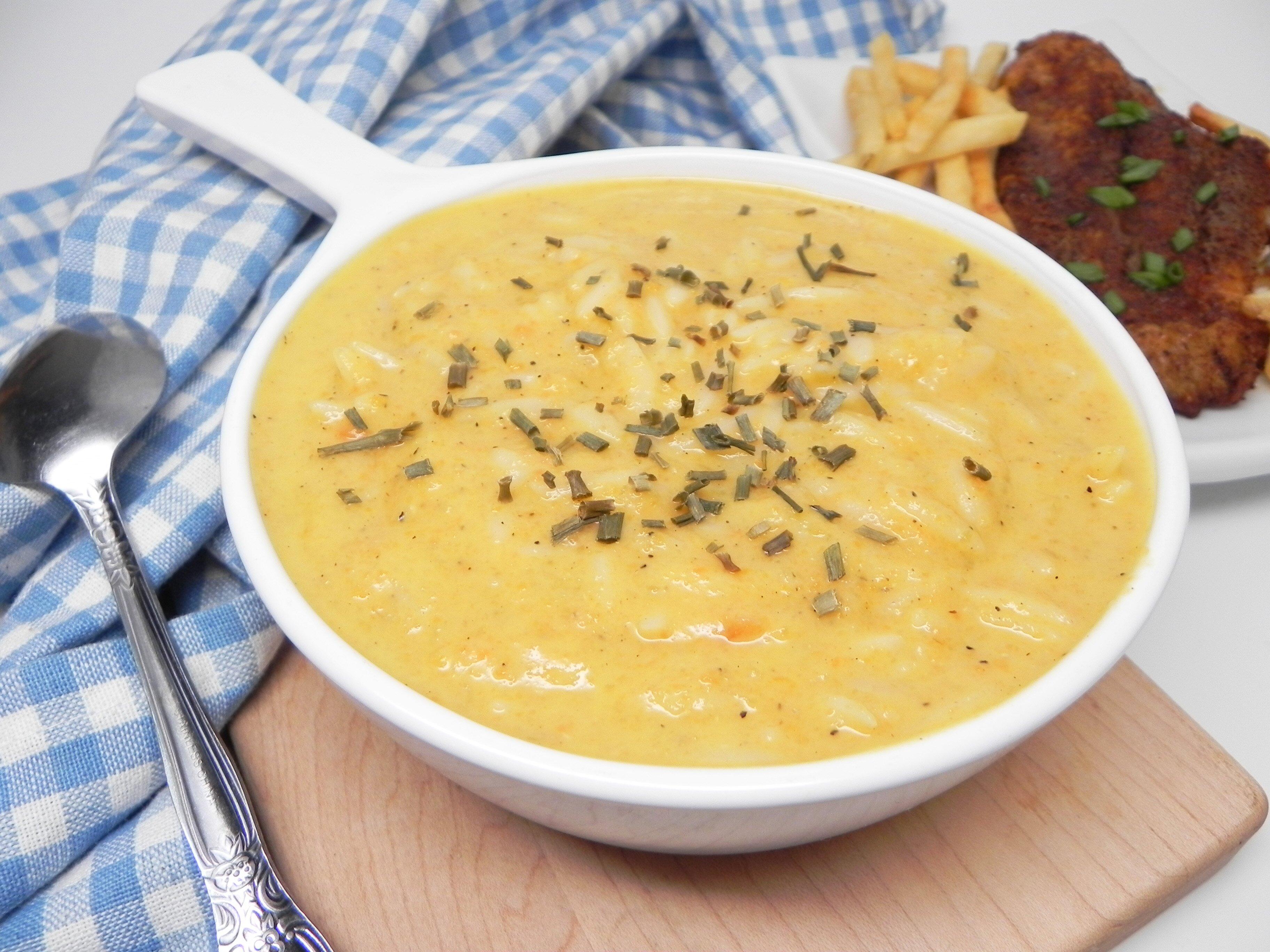 vegetarian avgolemono soup
