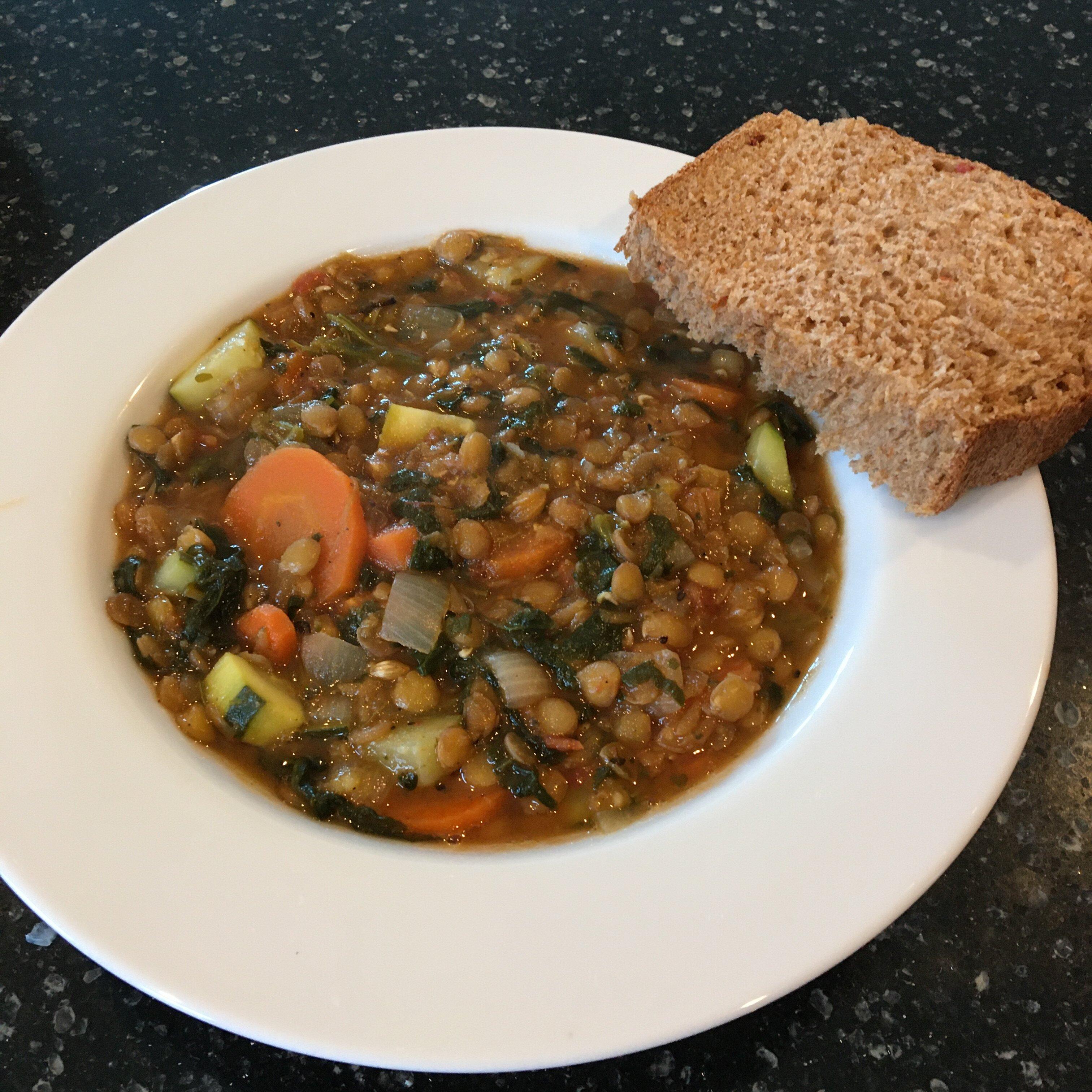 moroccan lentil soup with veggies recipe
