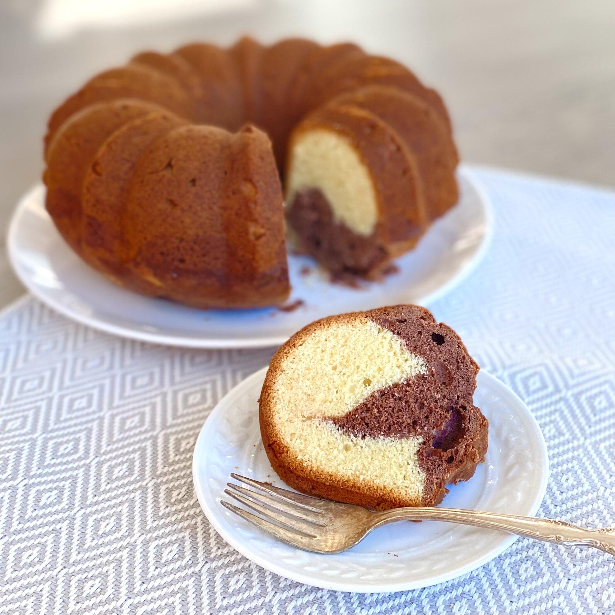 marmorkuchen german marble cake