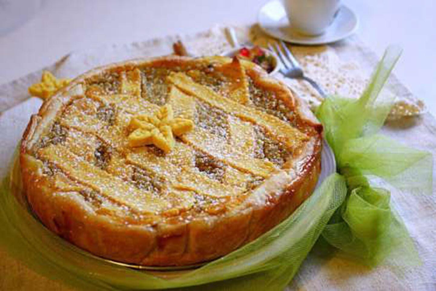 pastiera di pasqua italian easter tart with ricotta
