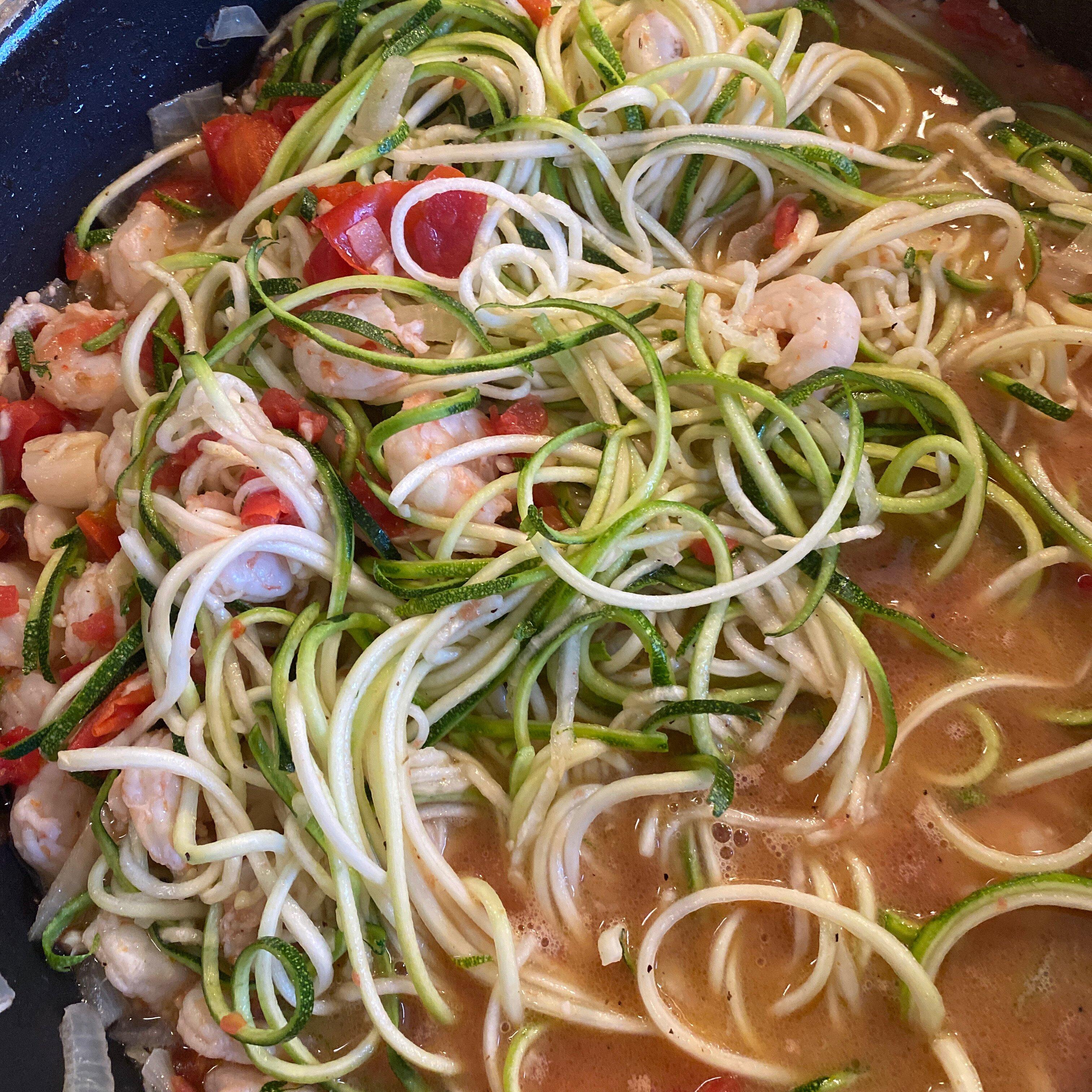 shrimp scampi zucchini recipe
