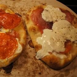 sassy no sauce naan pizza recipe