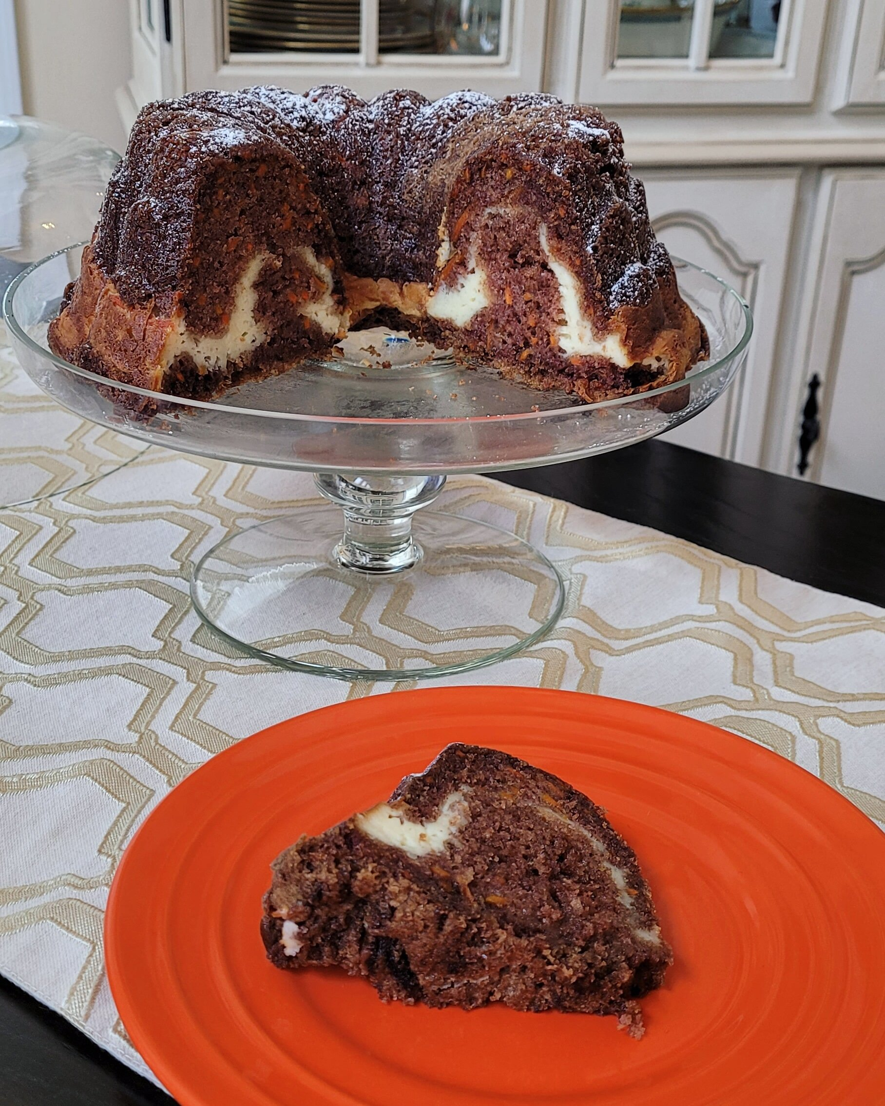 carrot bundt cake with cream cheese filling recipe