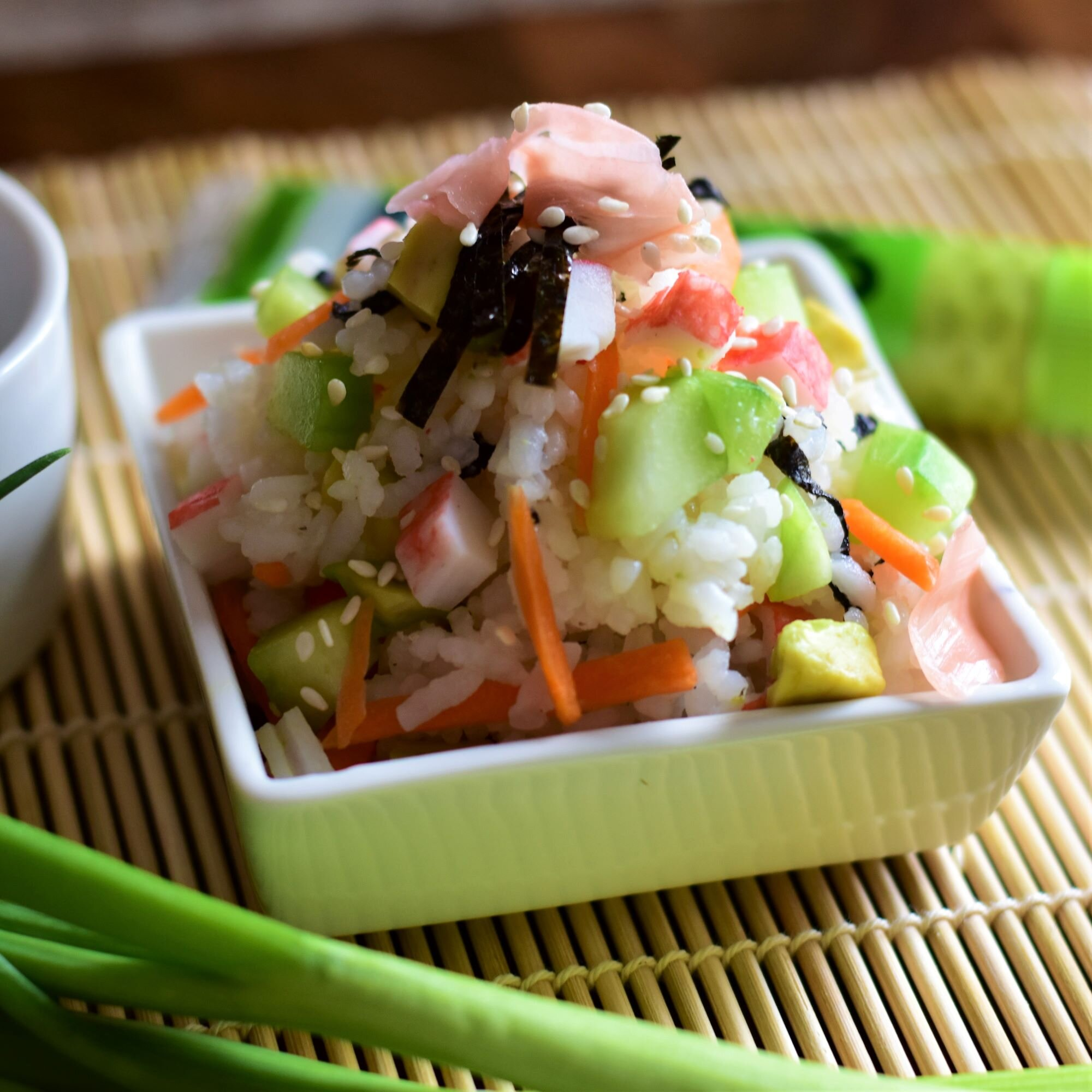 easy california roll sushi salad recipe