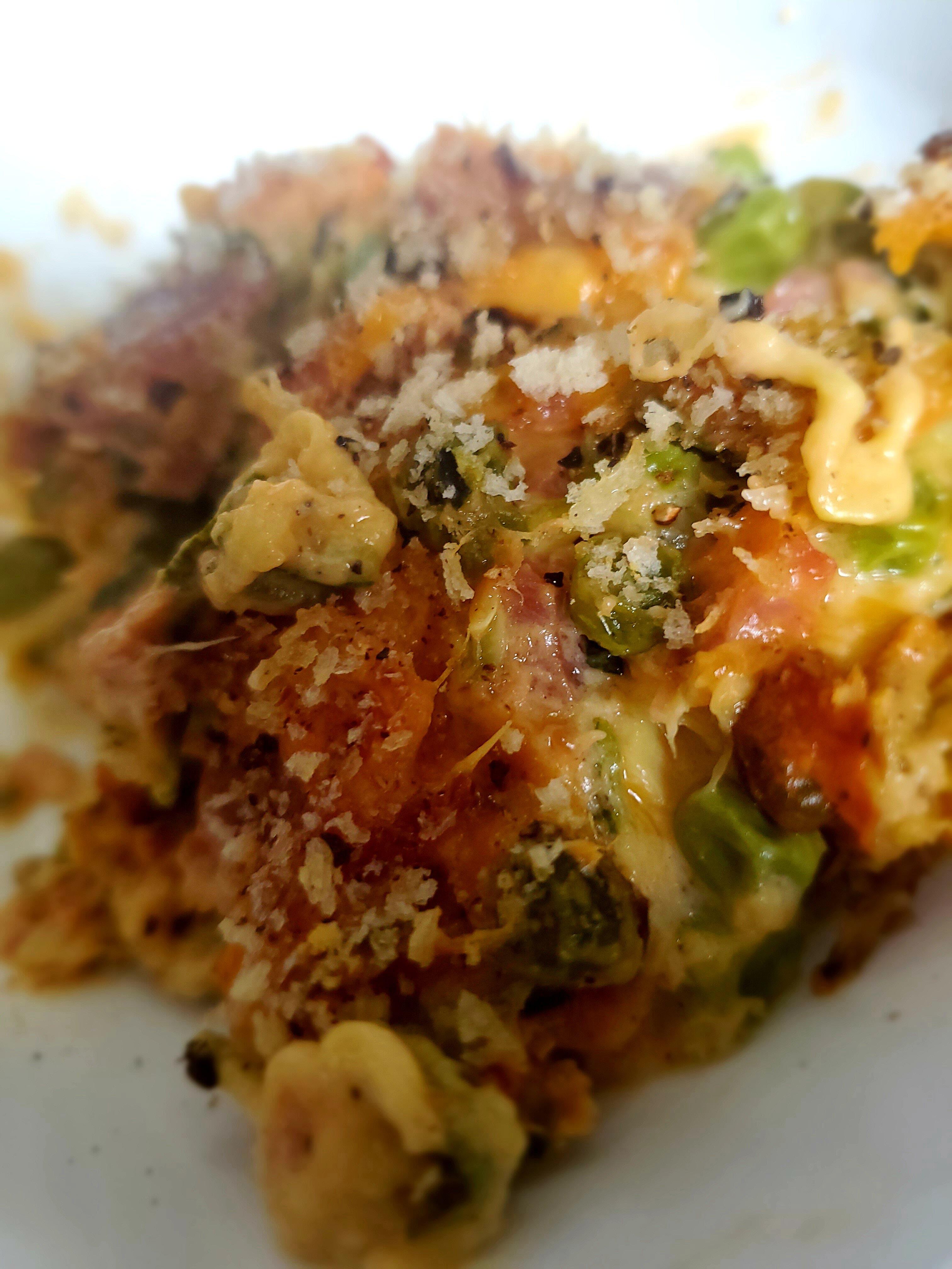cheesy tuna and zucchini noodle casserole