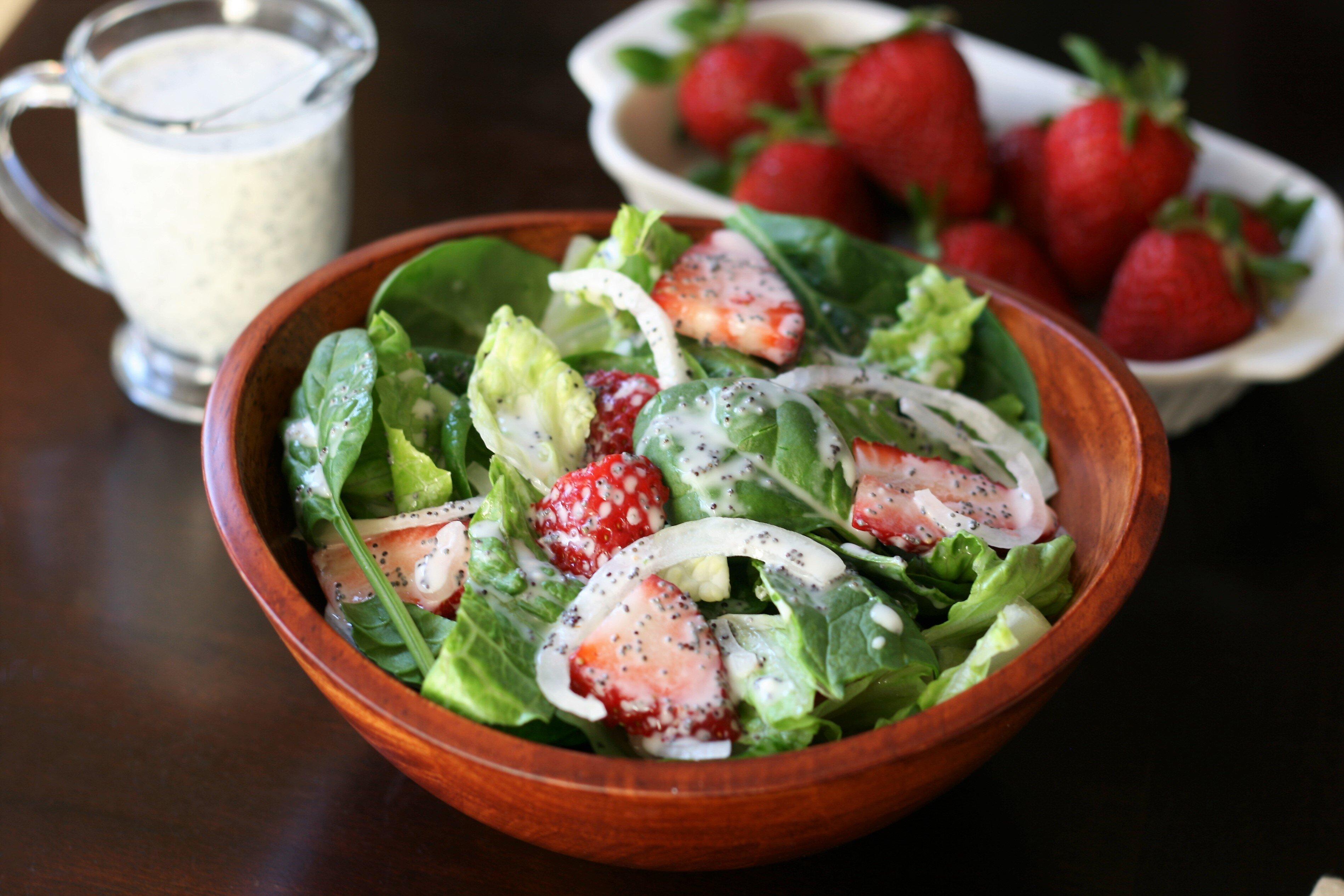 strawberry romaine salad i recipe