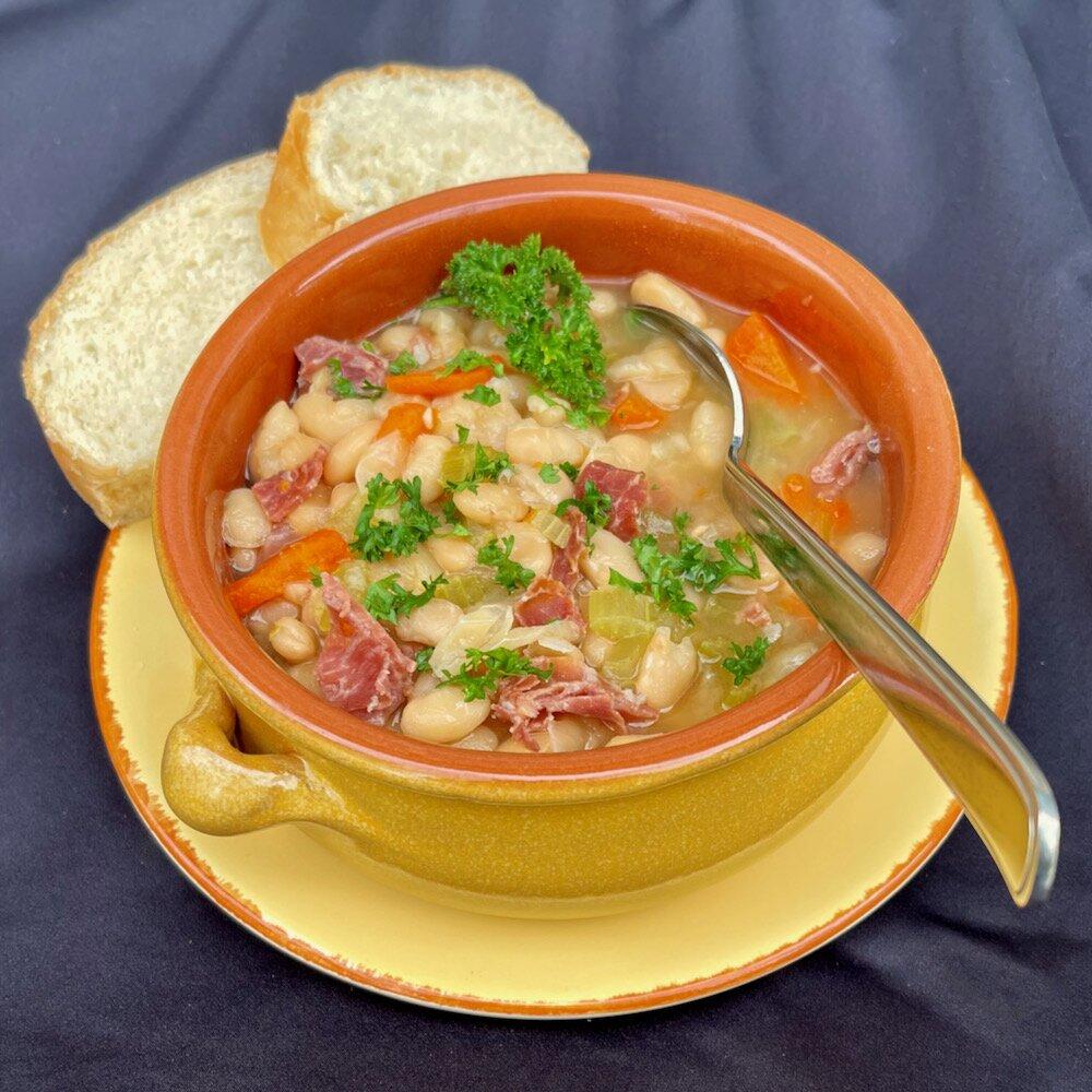 instant pot white bean soup with prosciutto