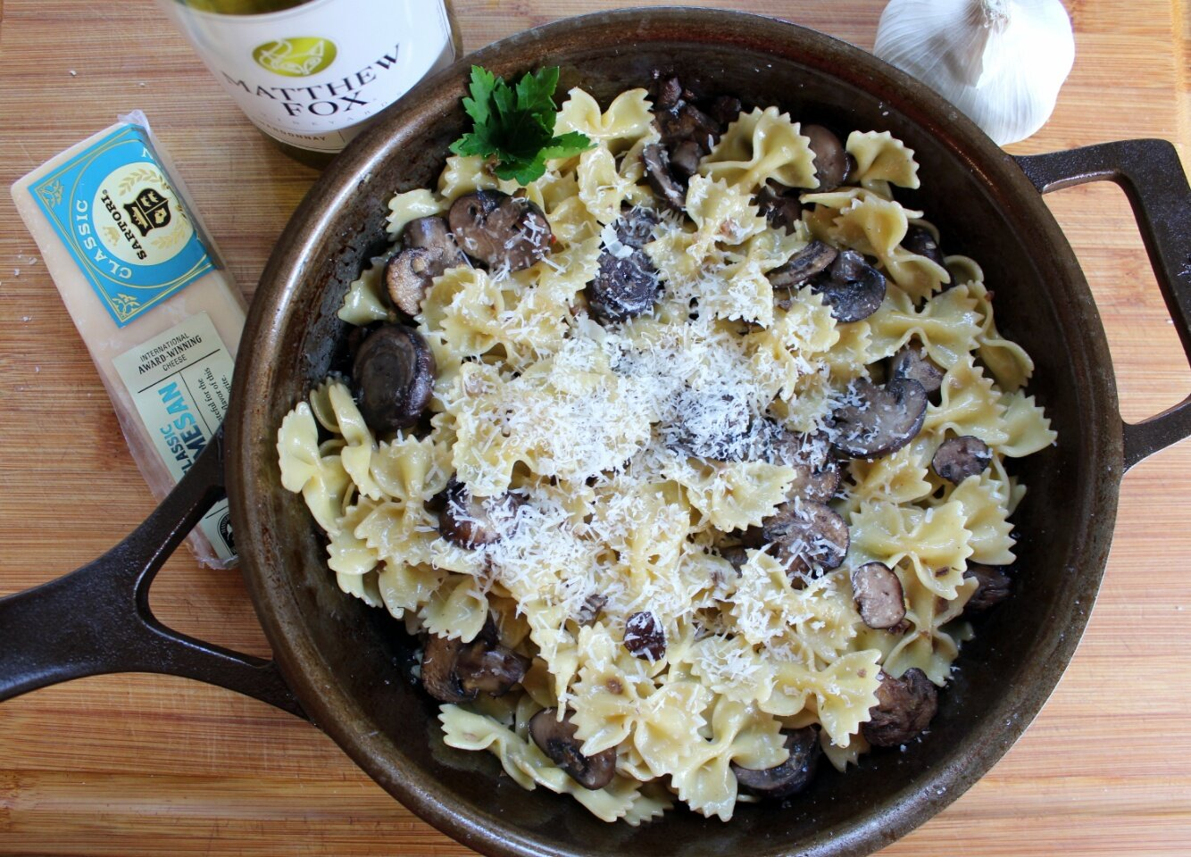 pasta with baby bella mushrooms