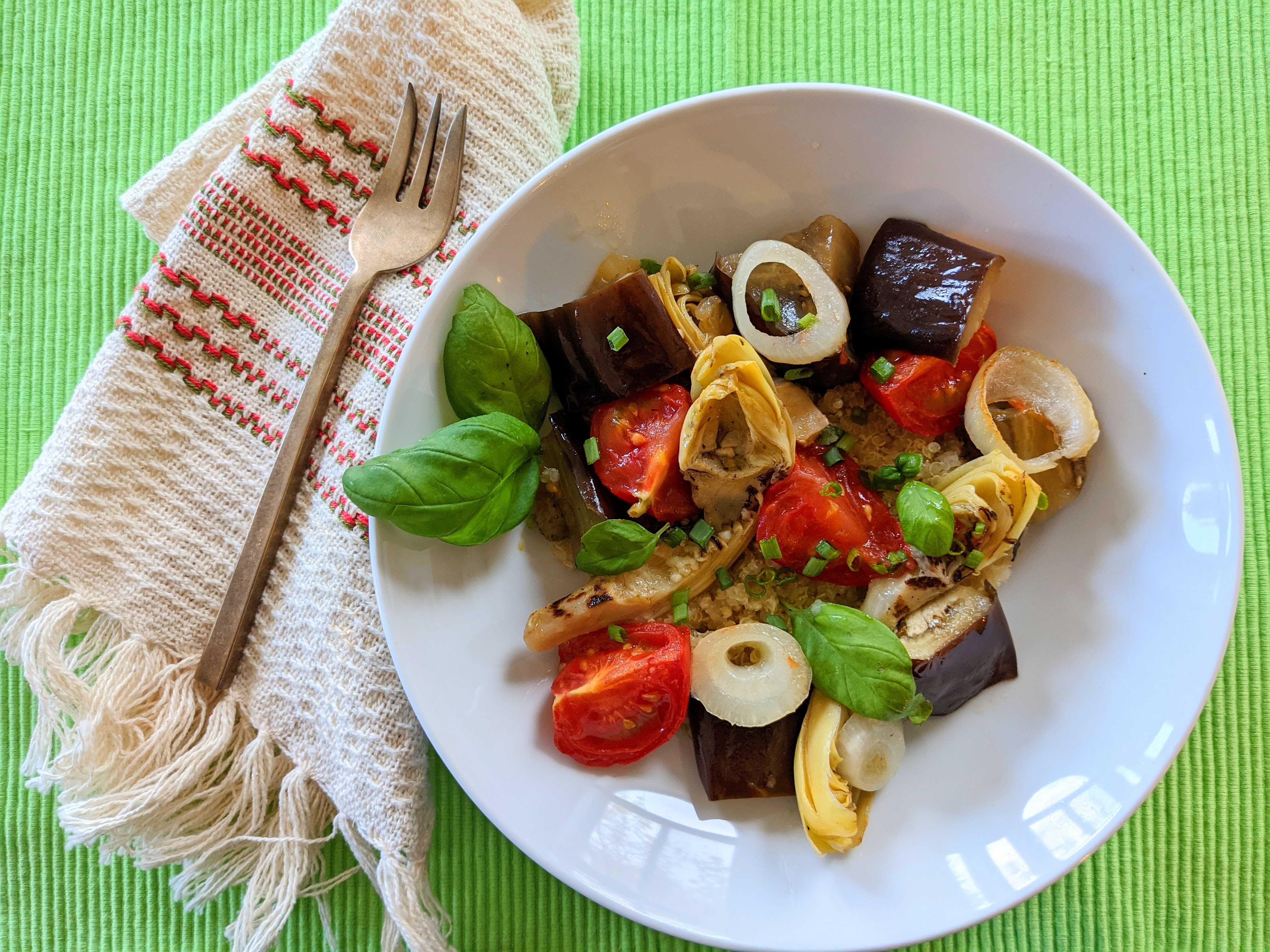 lisas herbed eggplant medley recipe