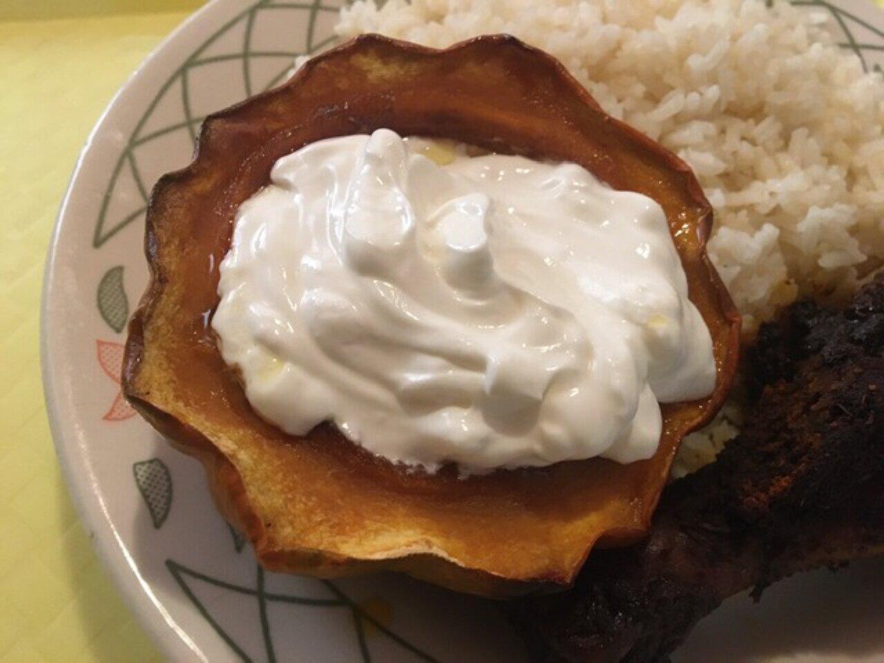 golden baked acorn squash recipe