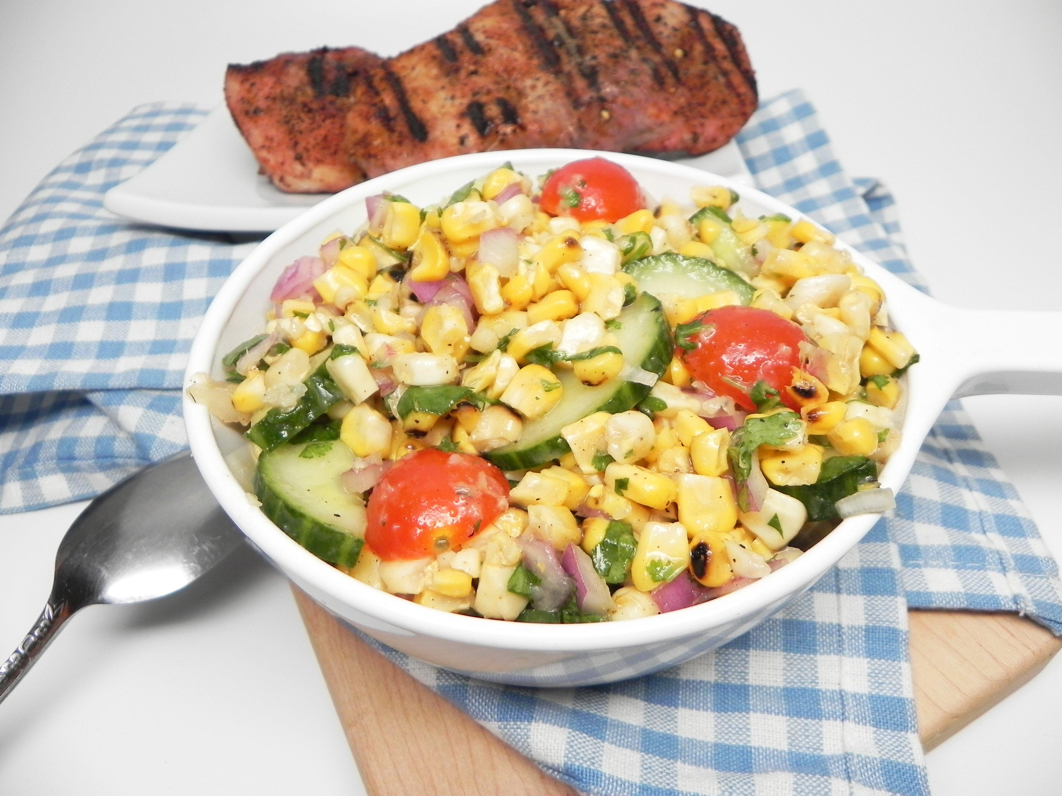 nicoles grilled corn salad