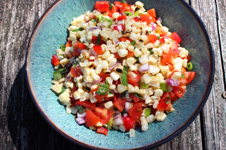 easy grilled corn salad