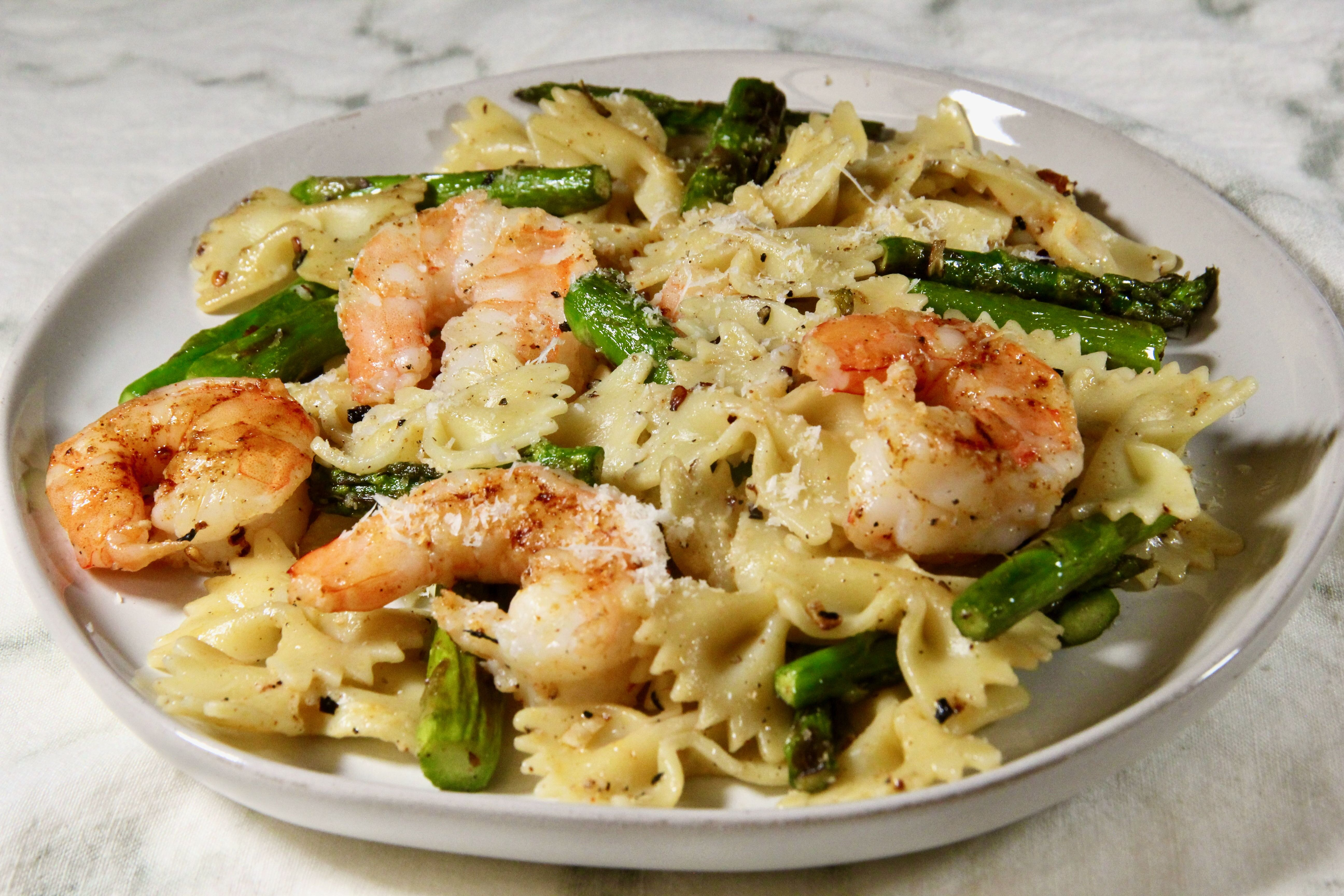 easy and tasty pasta with shrimp and asparagus recipe