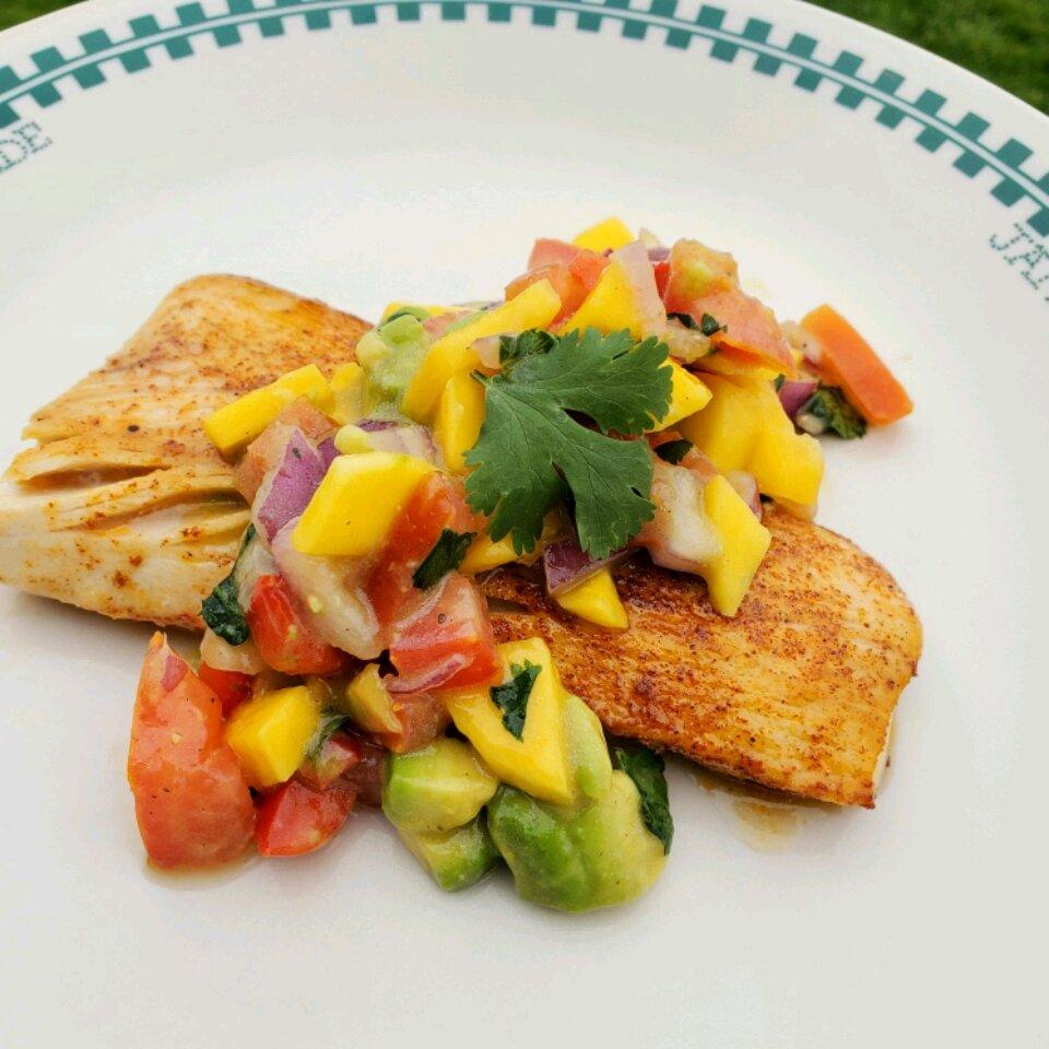 healthy fish tacos with mango salsa recipe