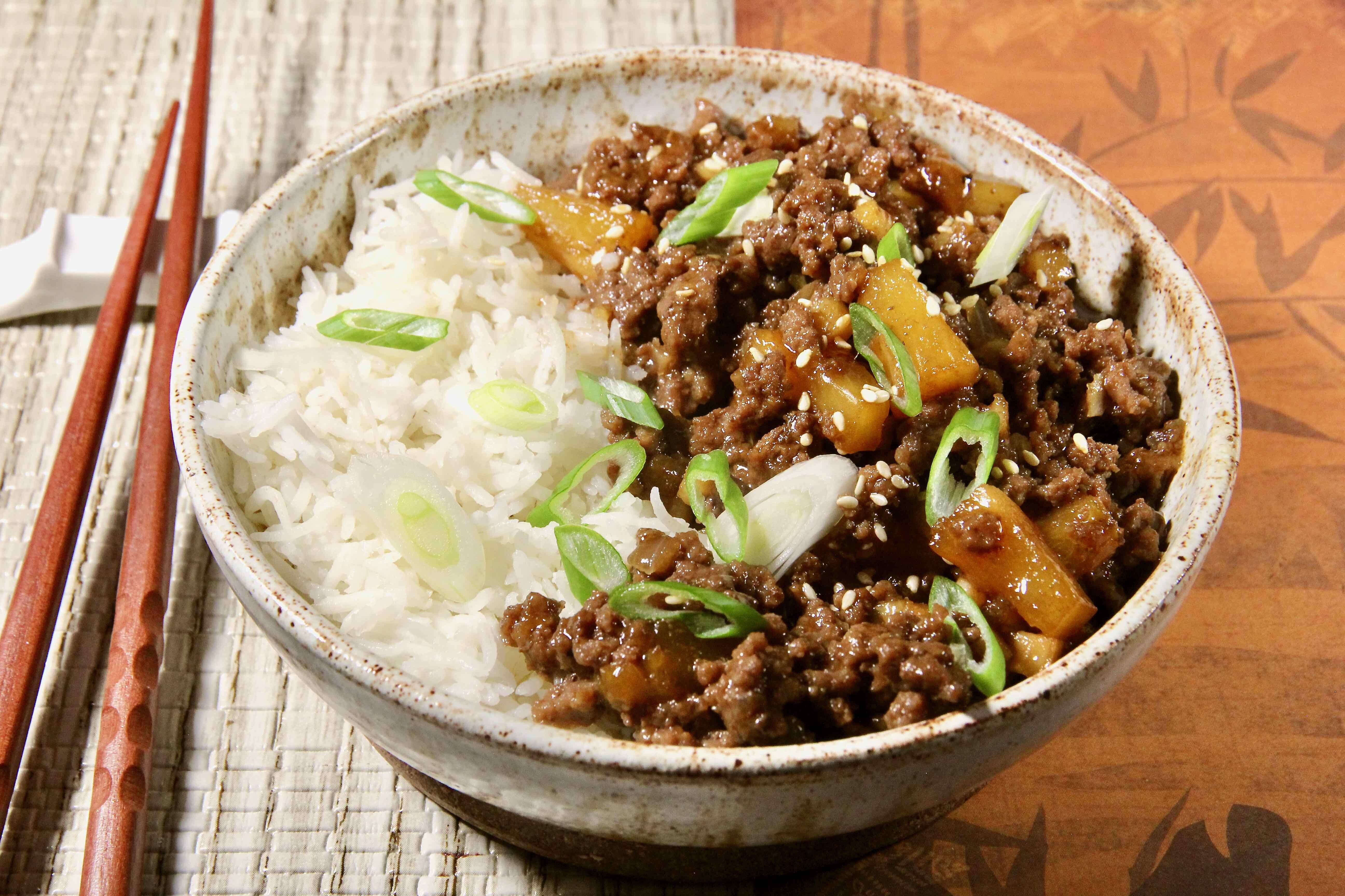 teriyaki ground beef skillet