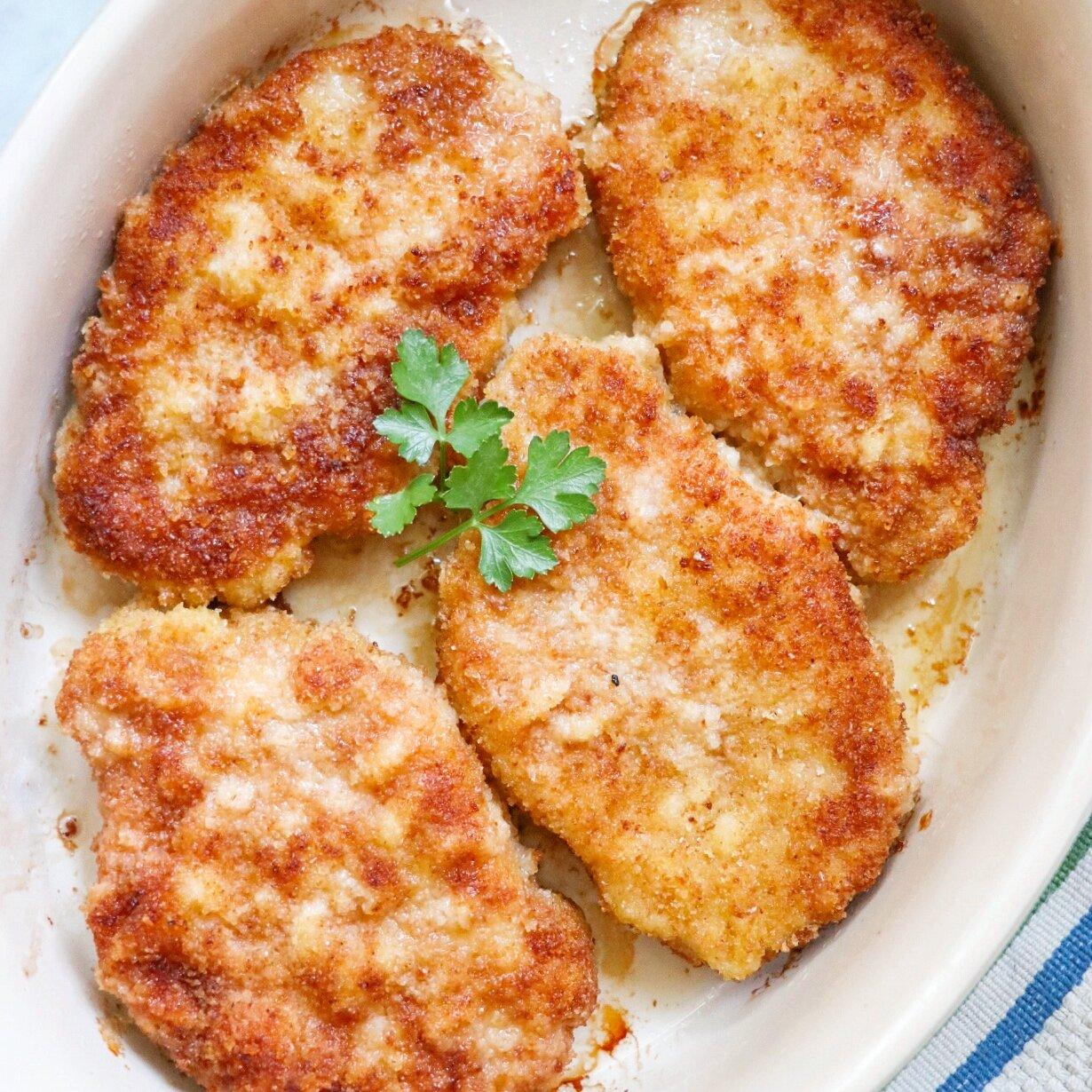 breaded baked pork chops recipe