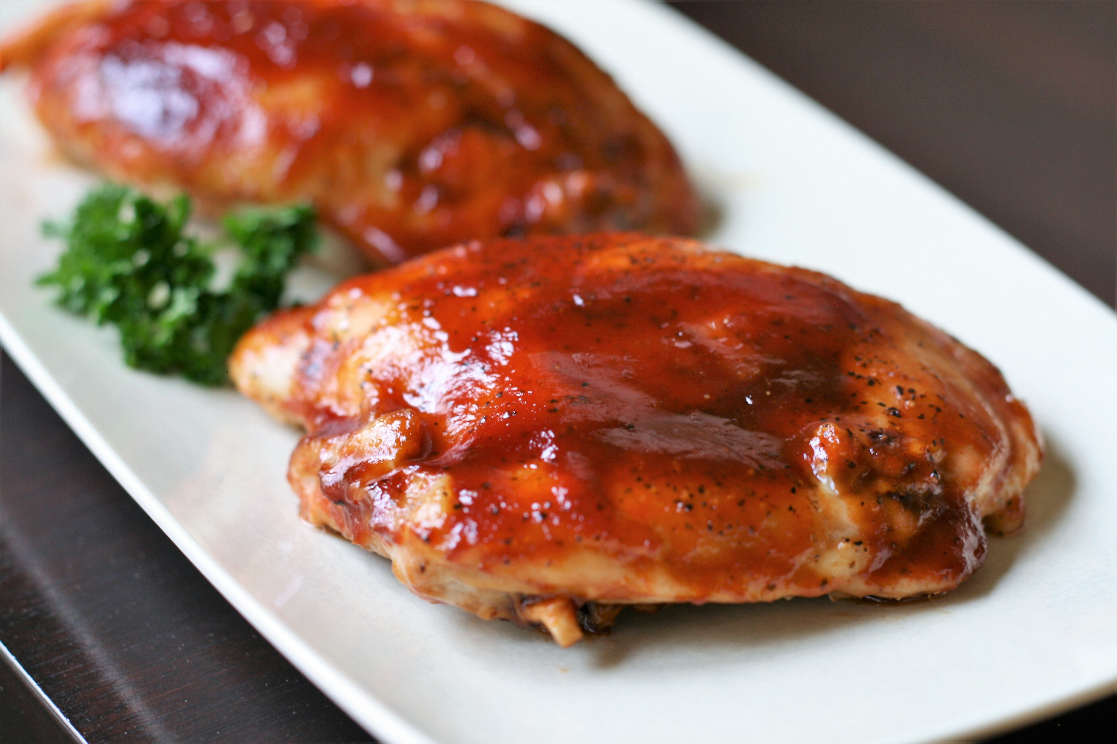 bbq chicken breasts in the oven recipe