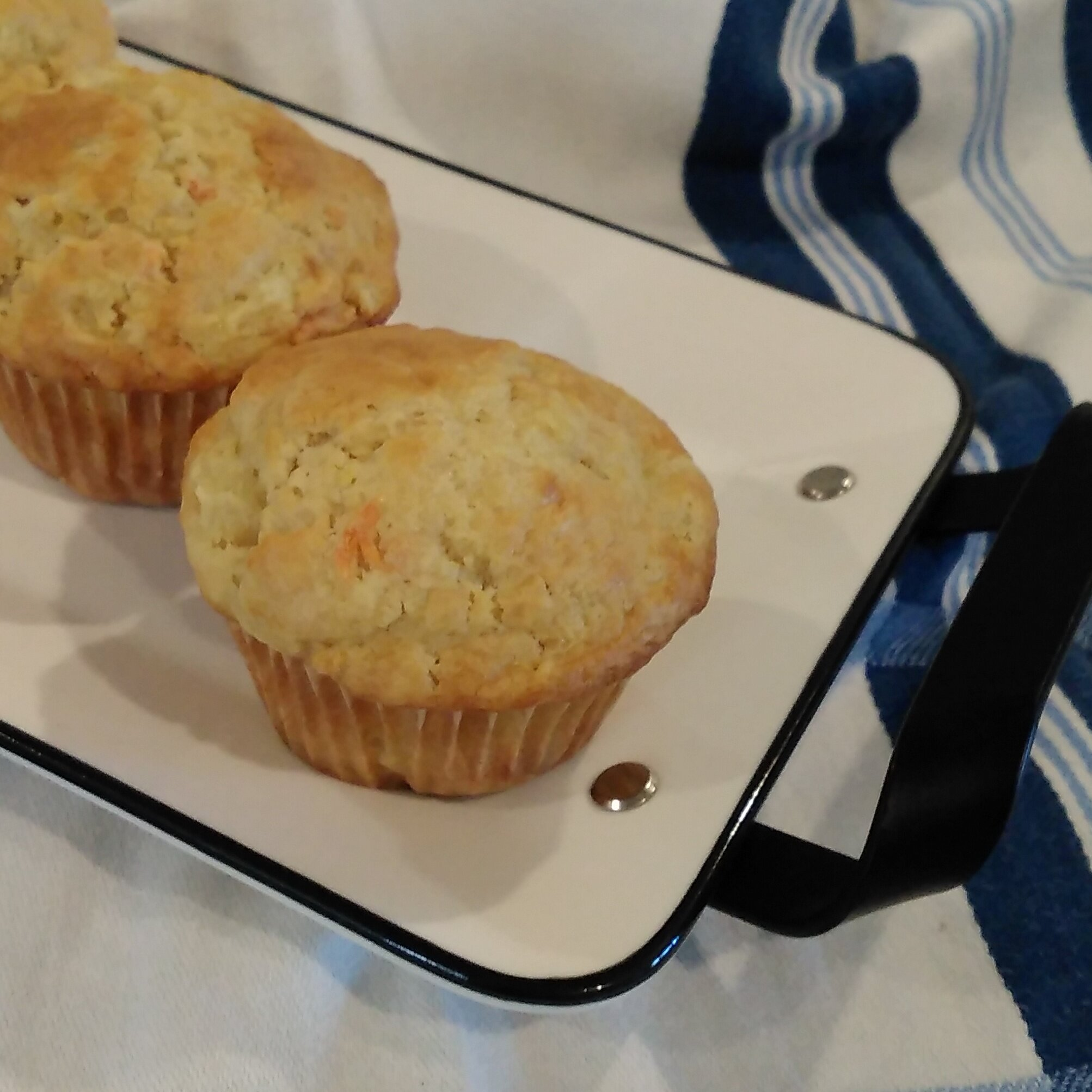 dairy free pineapple carrot muffins