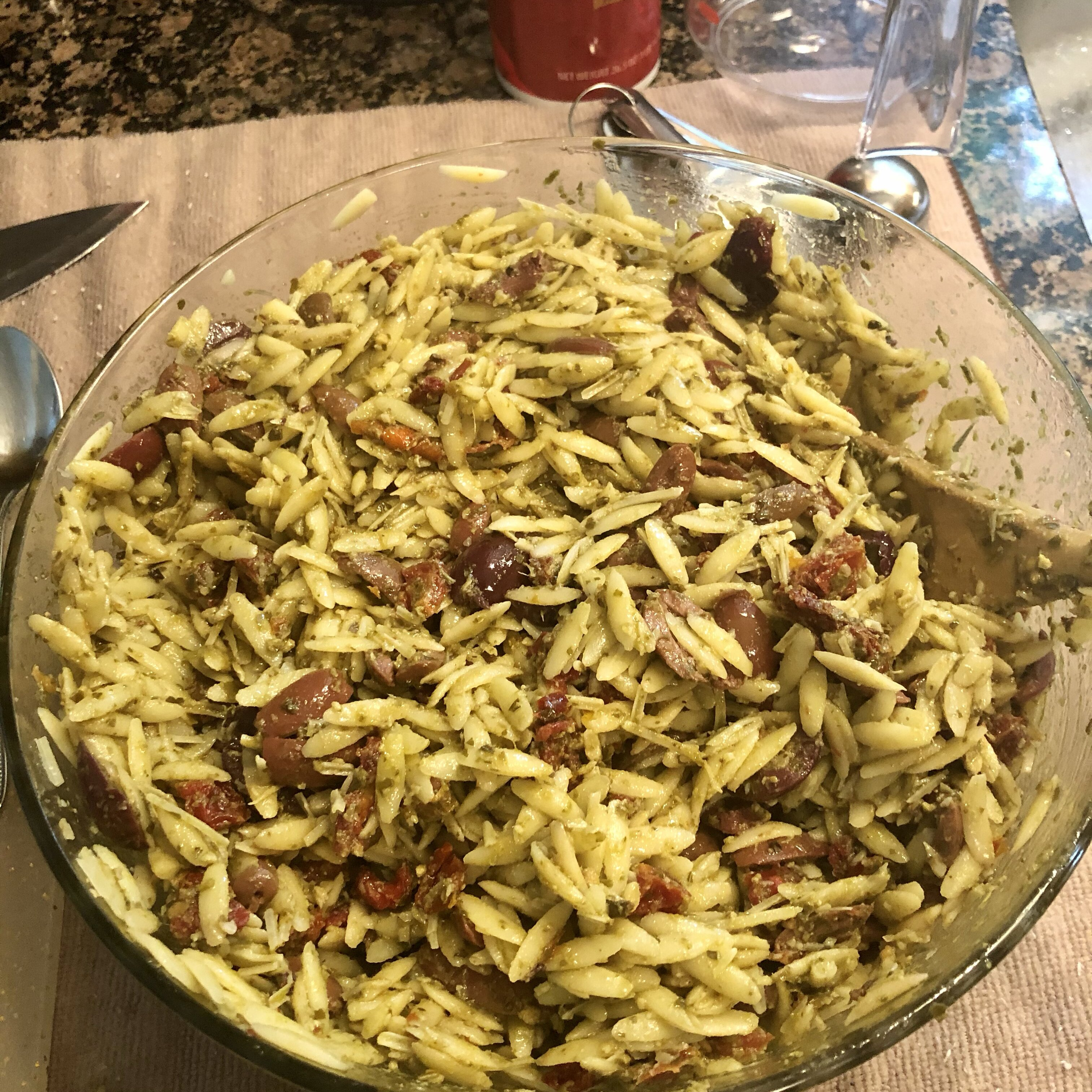 orzo with sun dried tomatoes and kalamata olives recipe