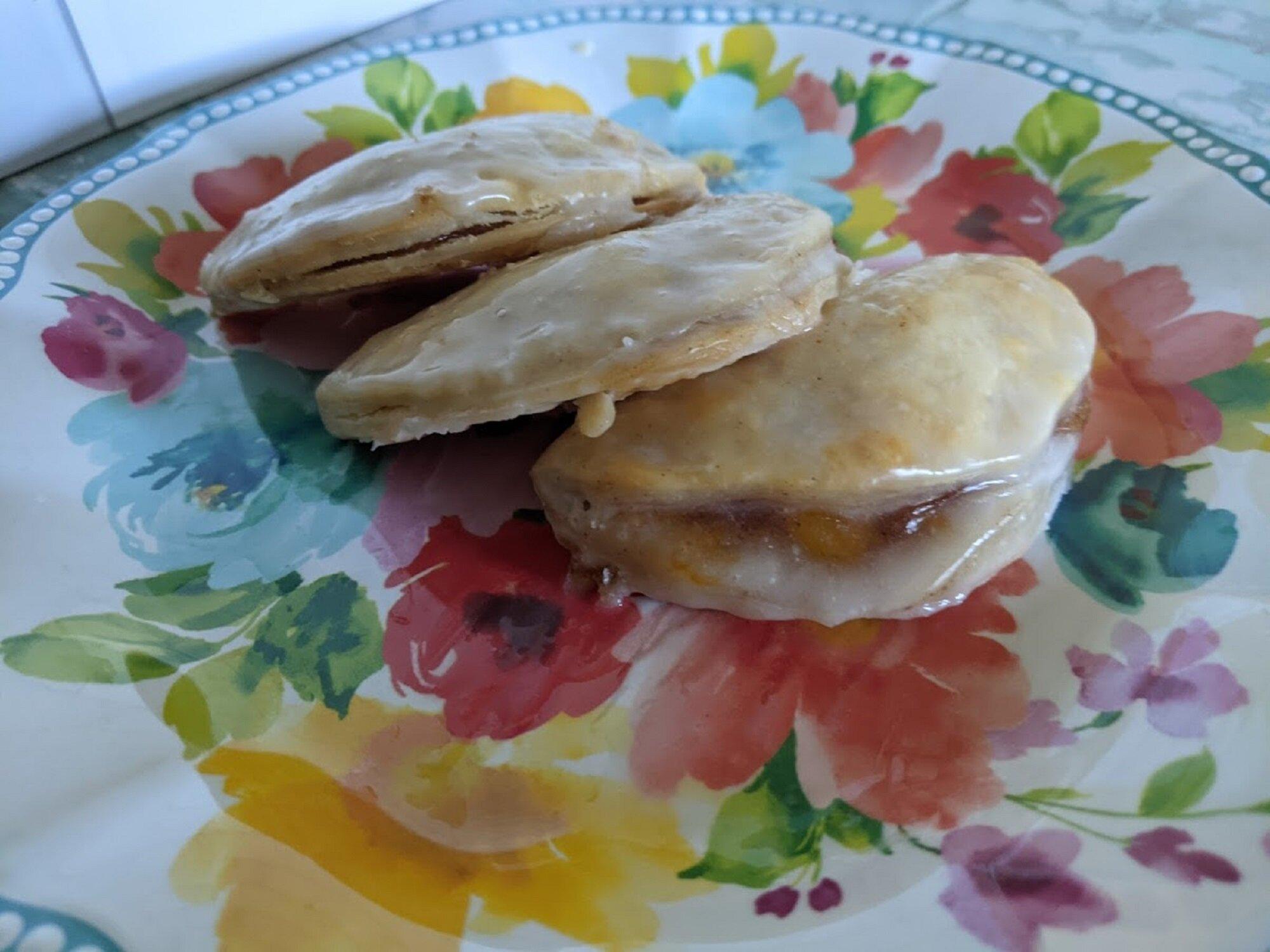 mini peach hand pies