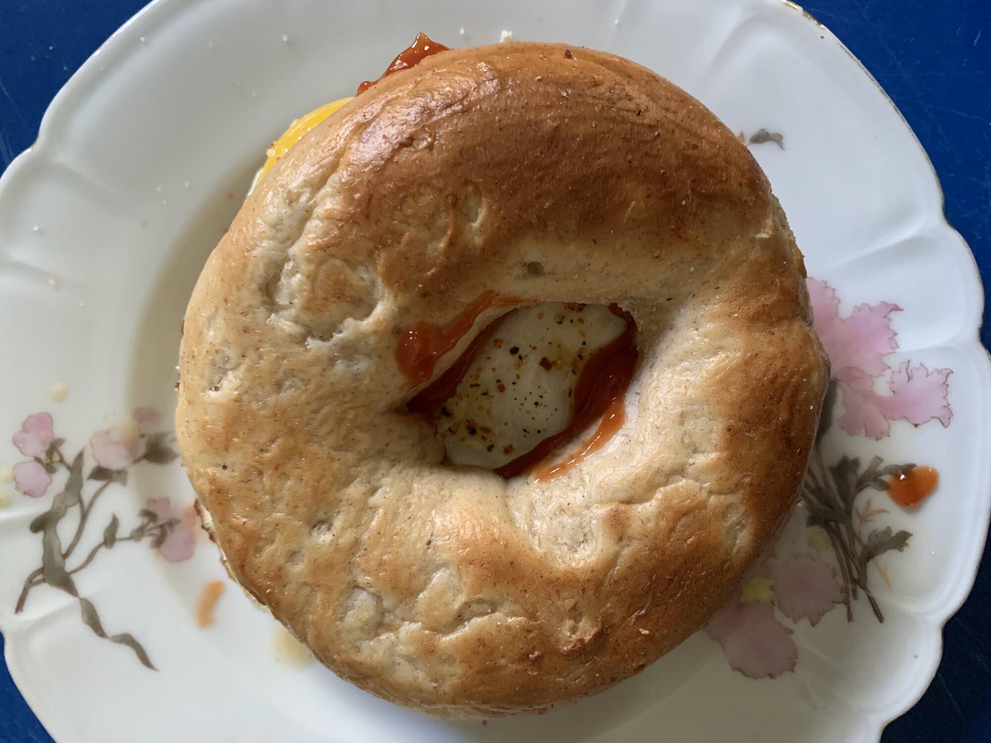 easy bagel egg sandwich