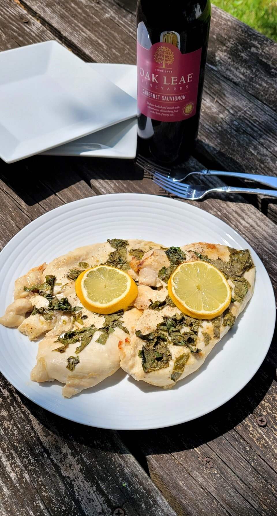 baked chicken breast with lemon and basil