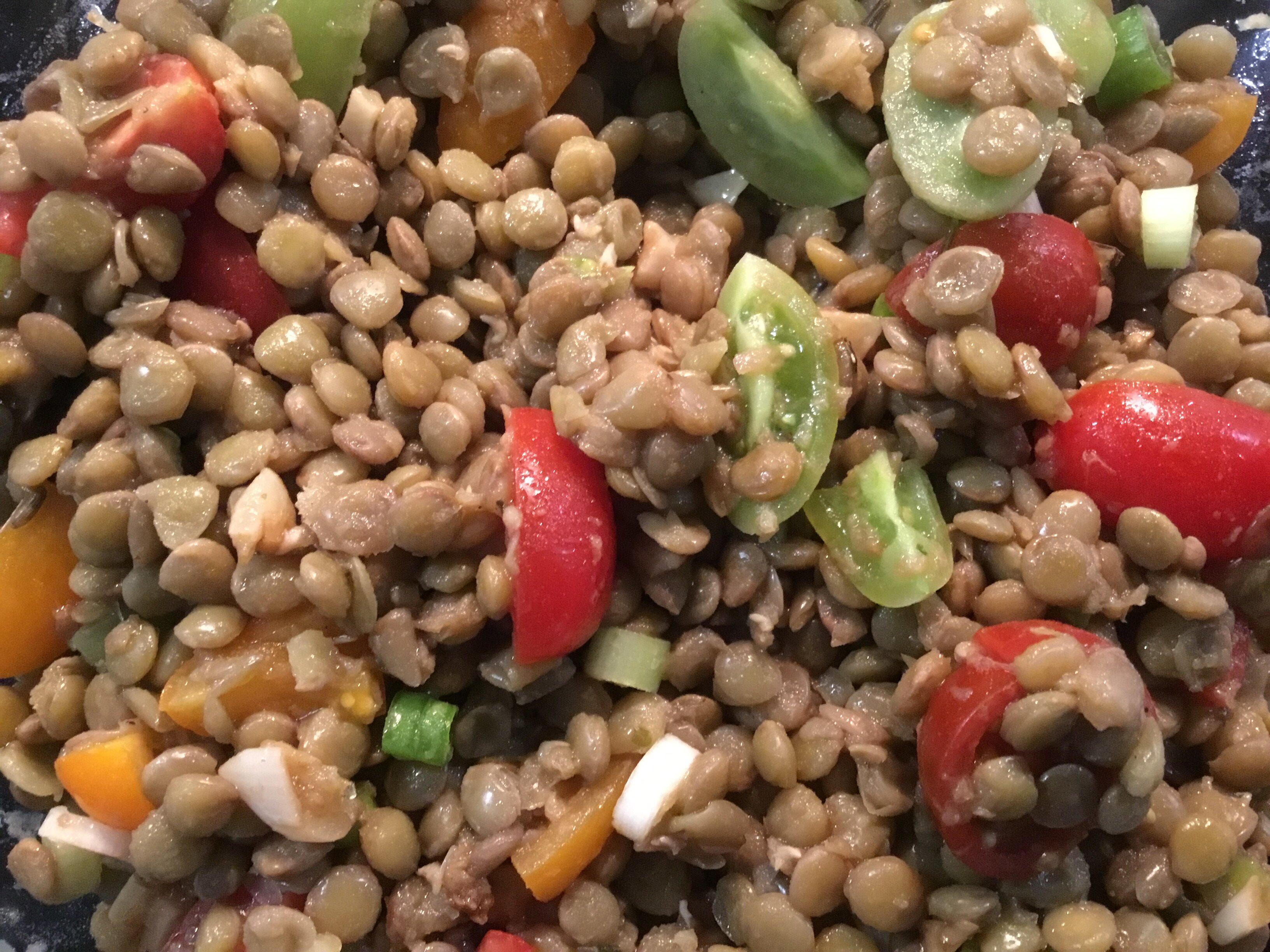 cold lentil salad recipe