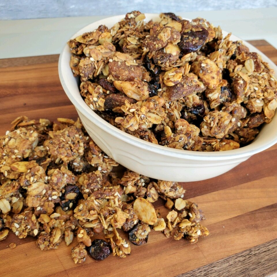 sweet nut and seed granola recipe