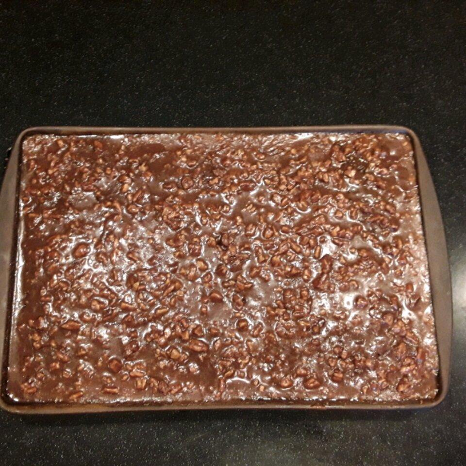 old southern chocolate pecan sheet cake recipe
