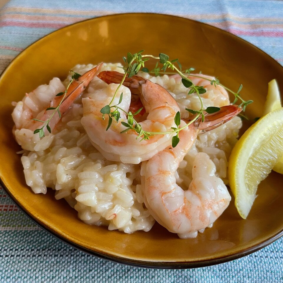 instant pot lemony shrimp risotto