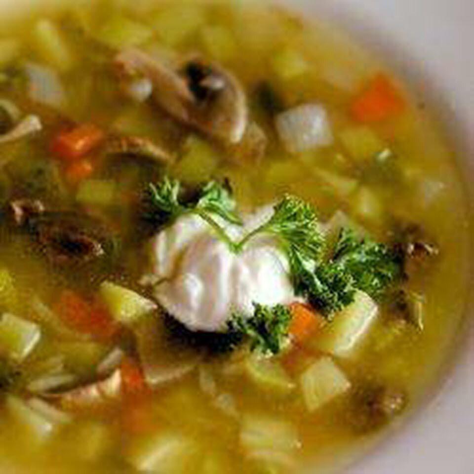 vegetarian rassolnik russian barley and pickle soup