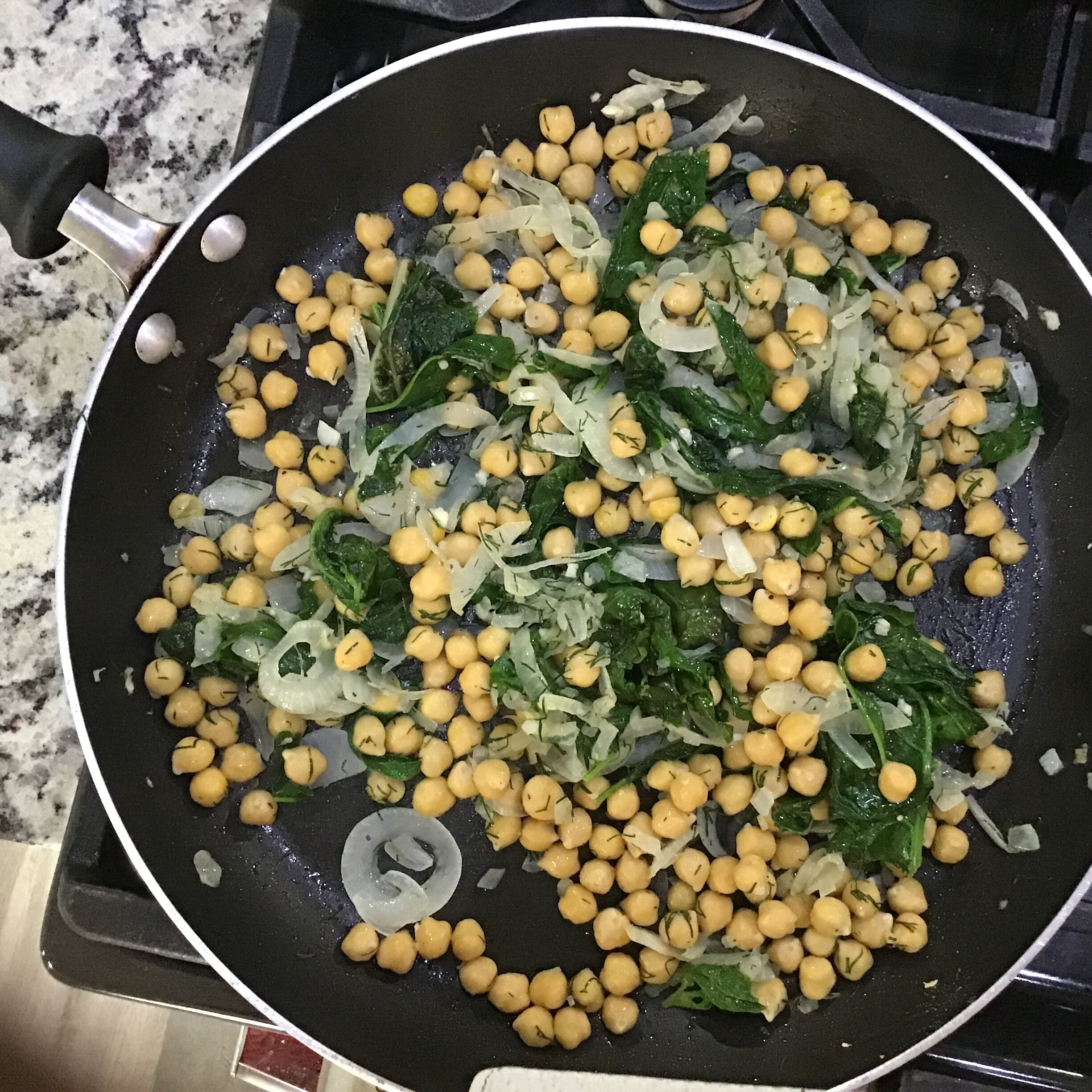 spinach with chickpeas and fresh dill recipe