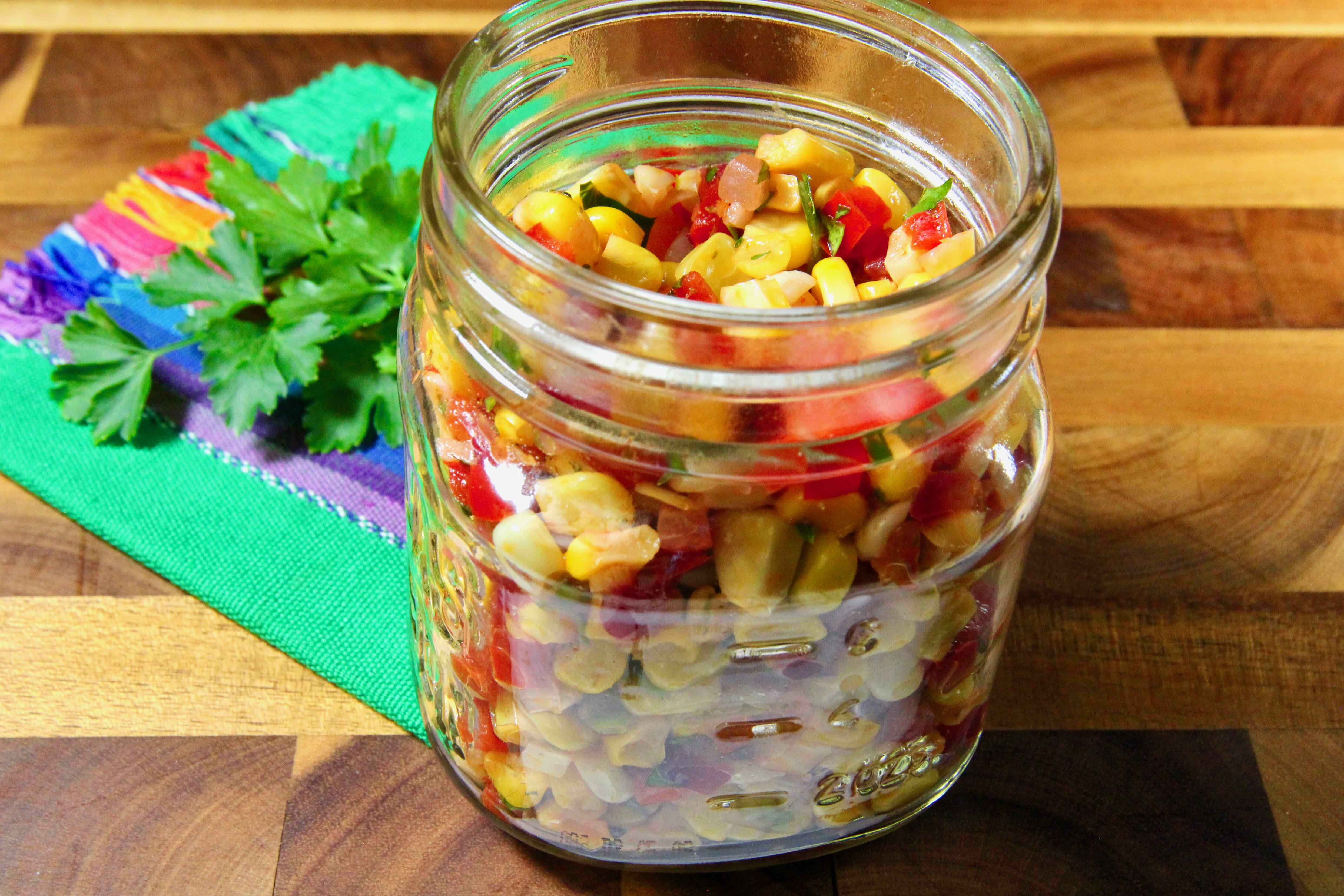 sweet pepper and corn relish