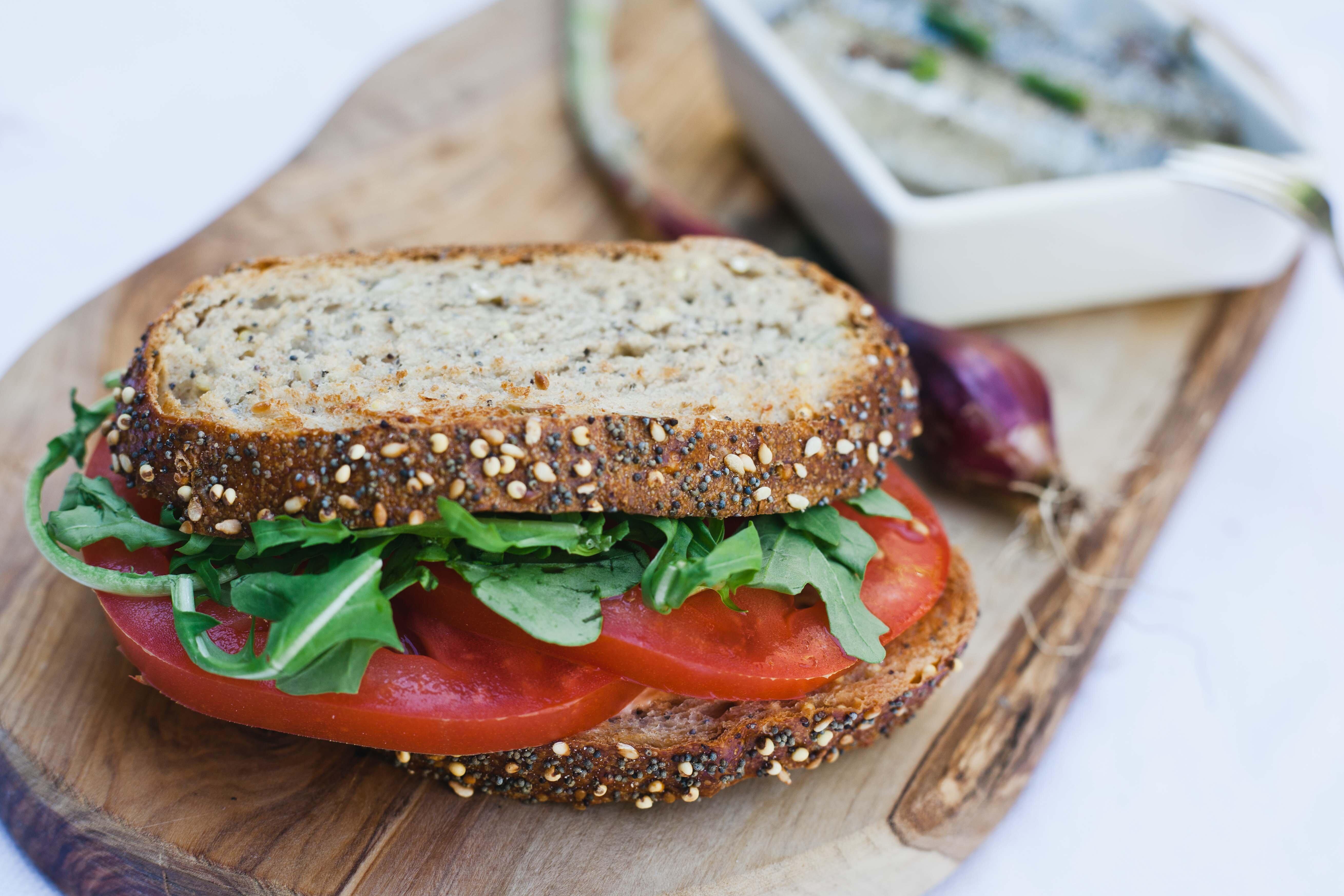 quick tomato sandwich recipe