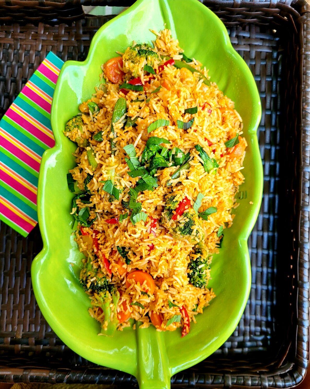 vegetarian thai curry fried rice