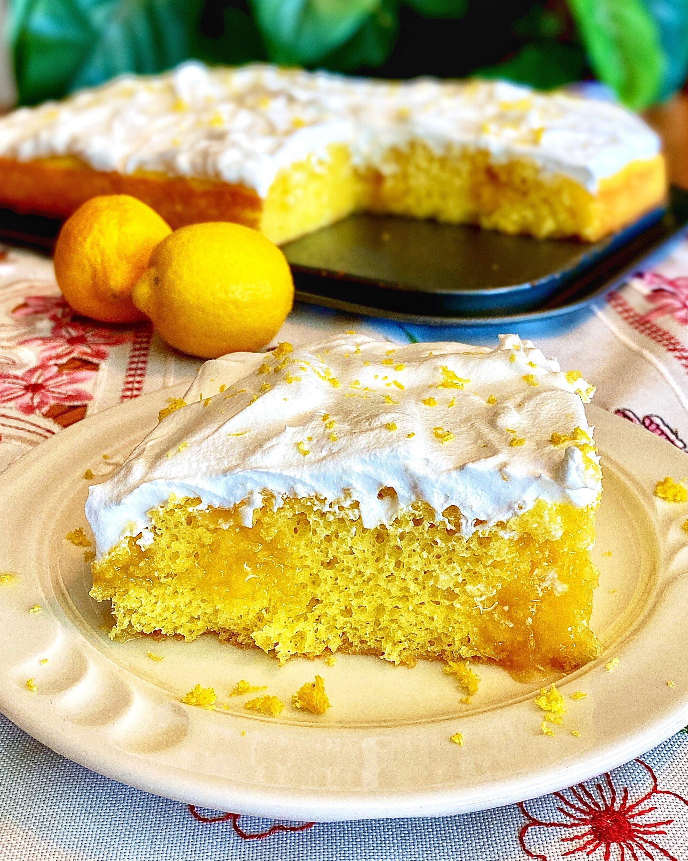 lemon curd poke cake