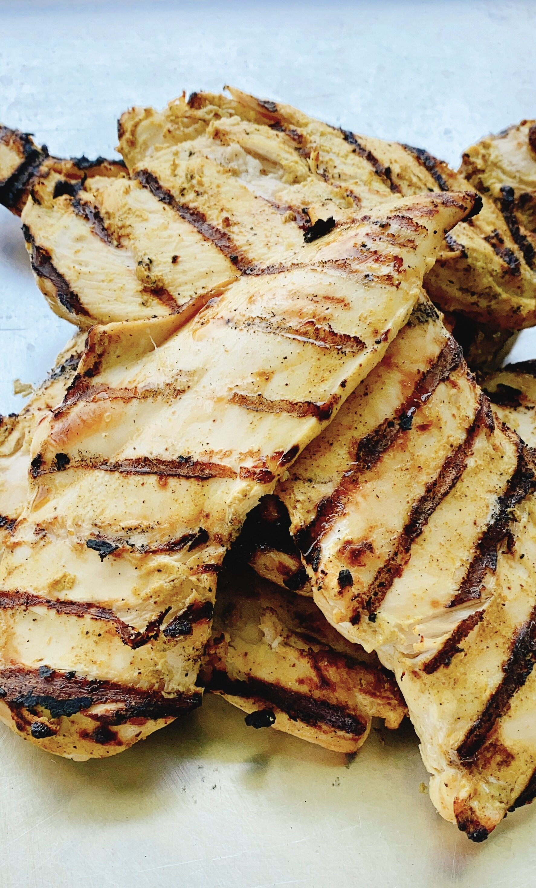 grilled curry chicken breasts