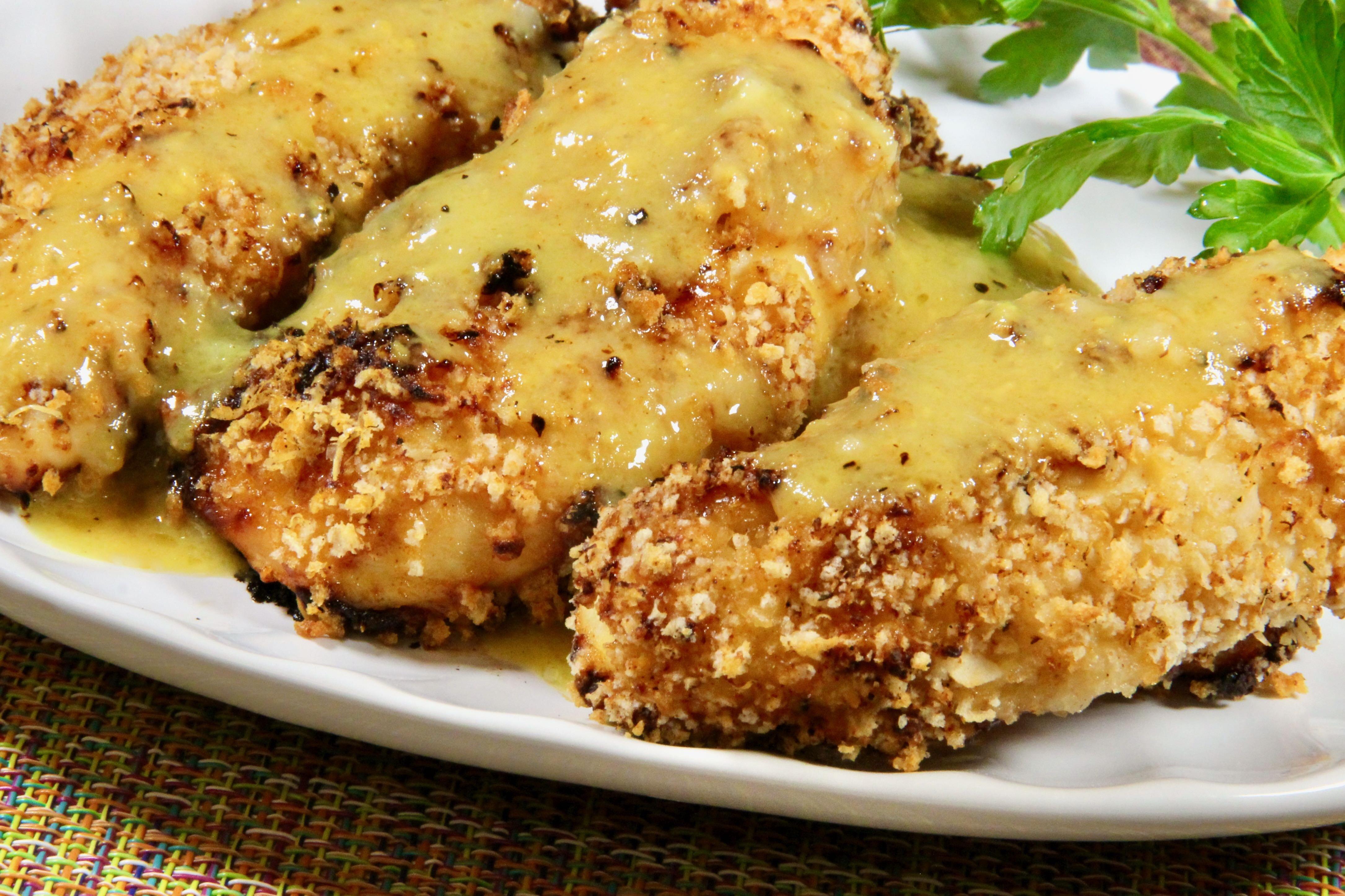 honey mustard panko chicken tenders
